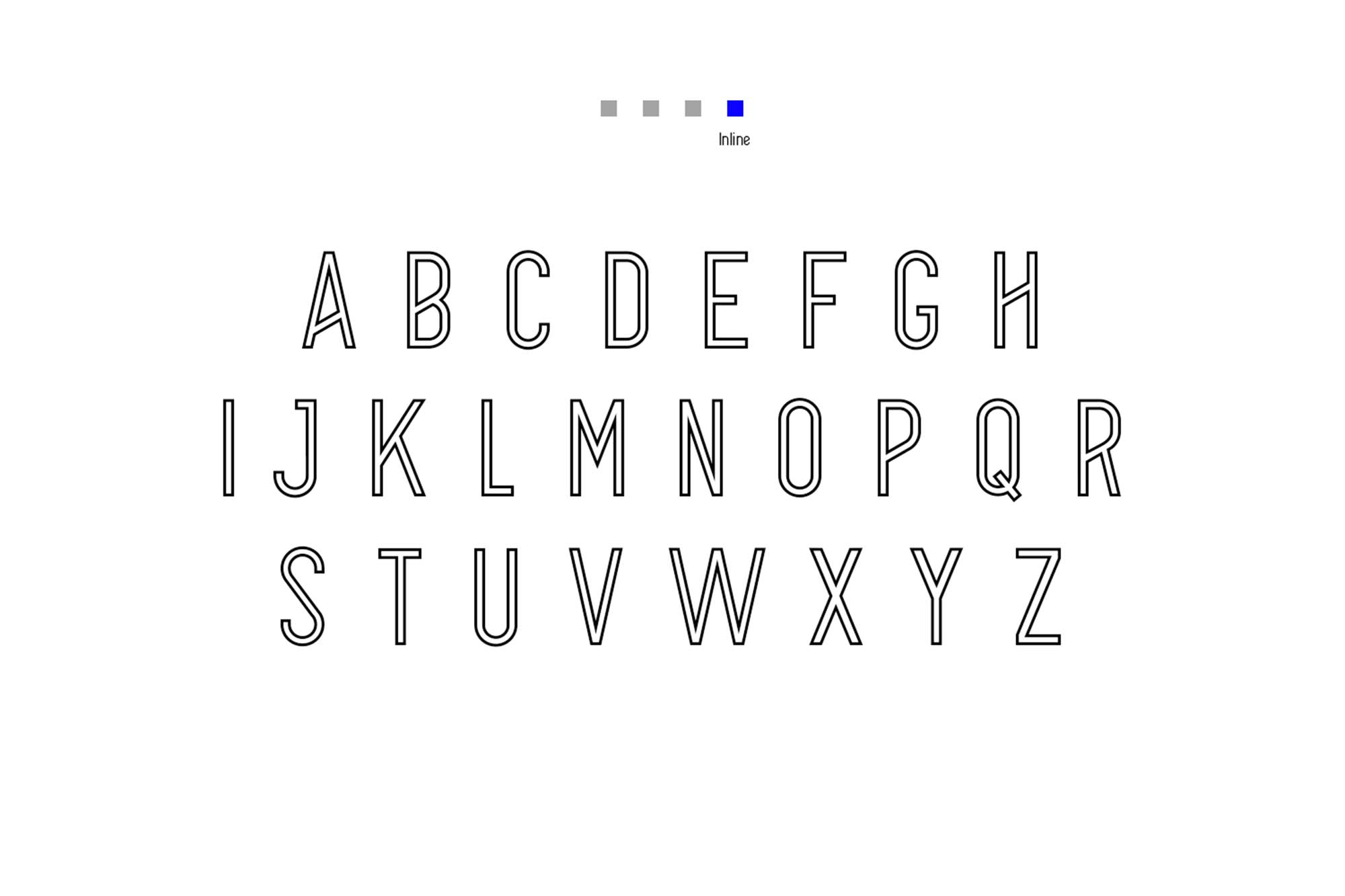Alpha Font Family Uppercase Inline
