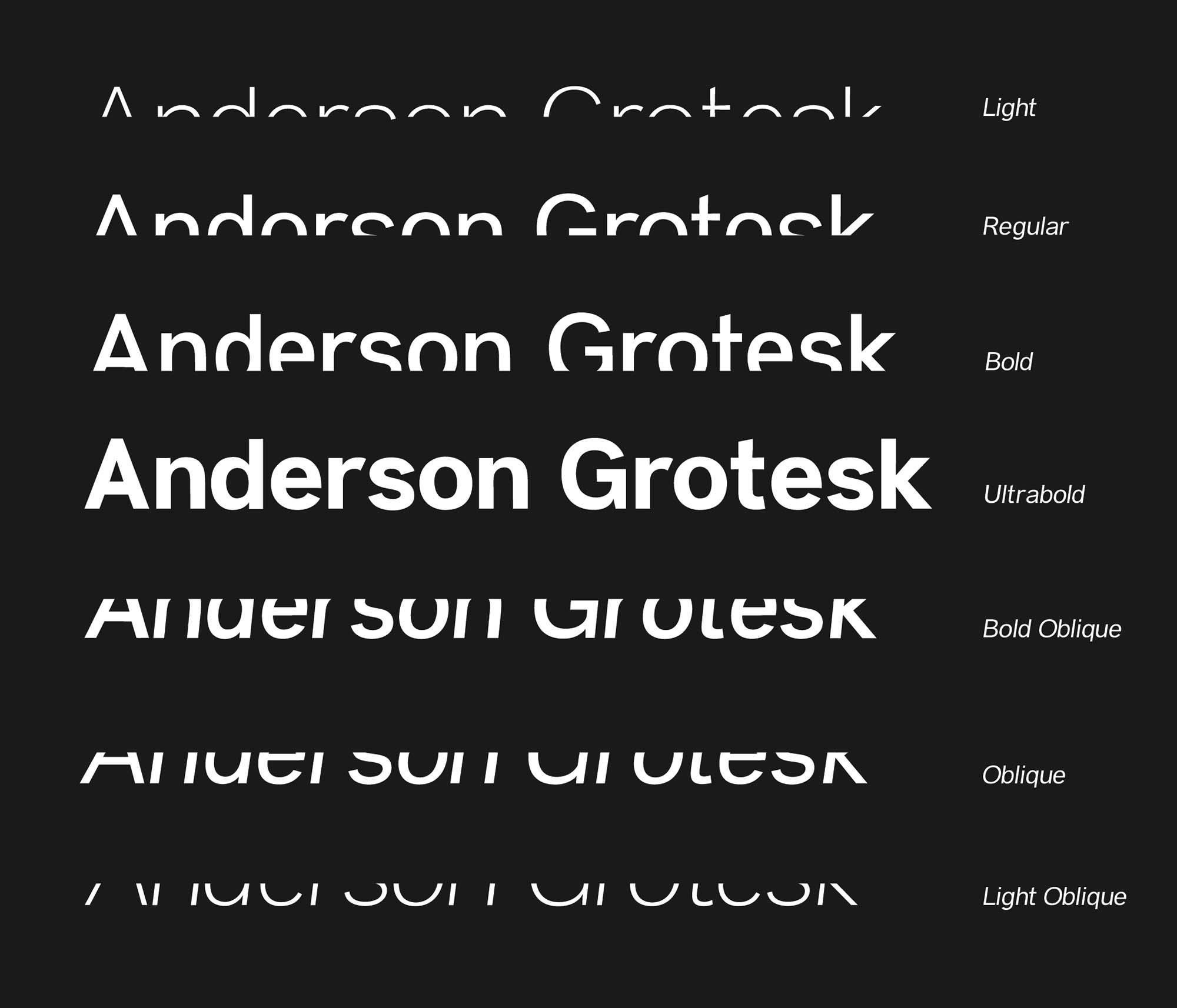 Anderson Grotesk Font