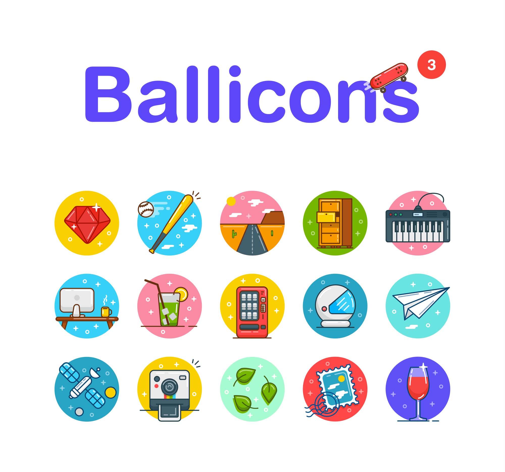 Ballicons Flat Icons