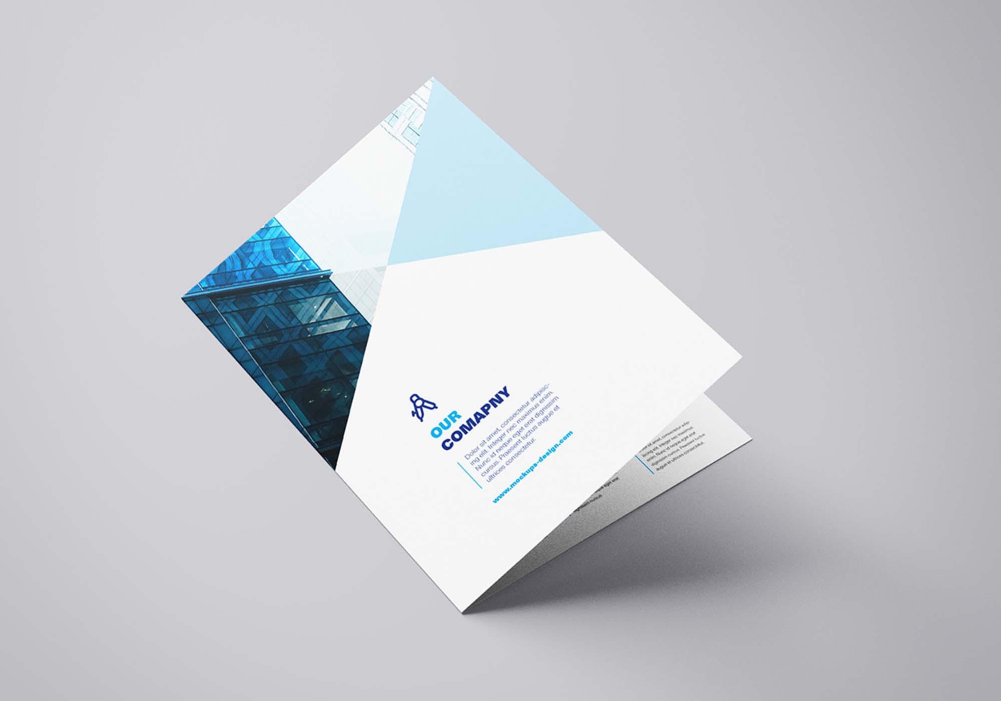 Bi Fold Brochure Mockup