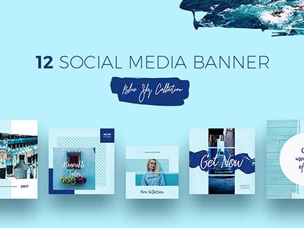 Blue Sky Social Media Templates