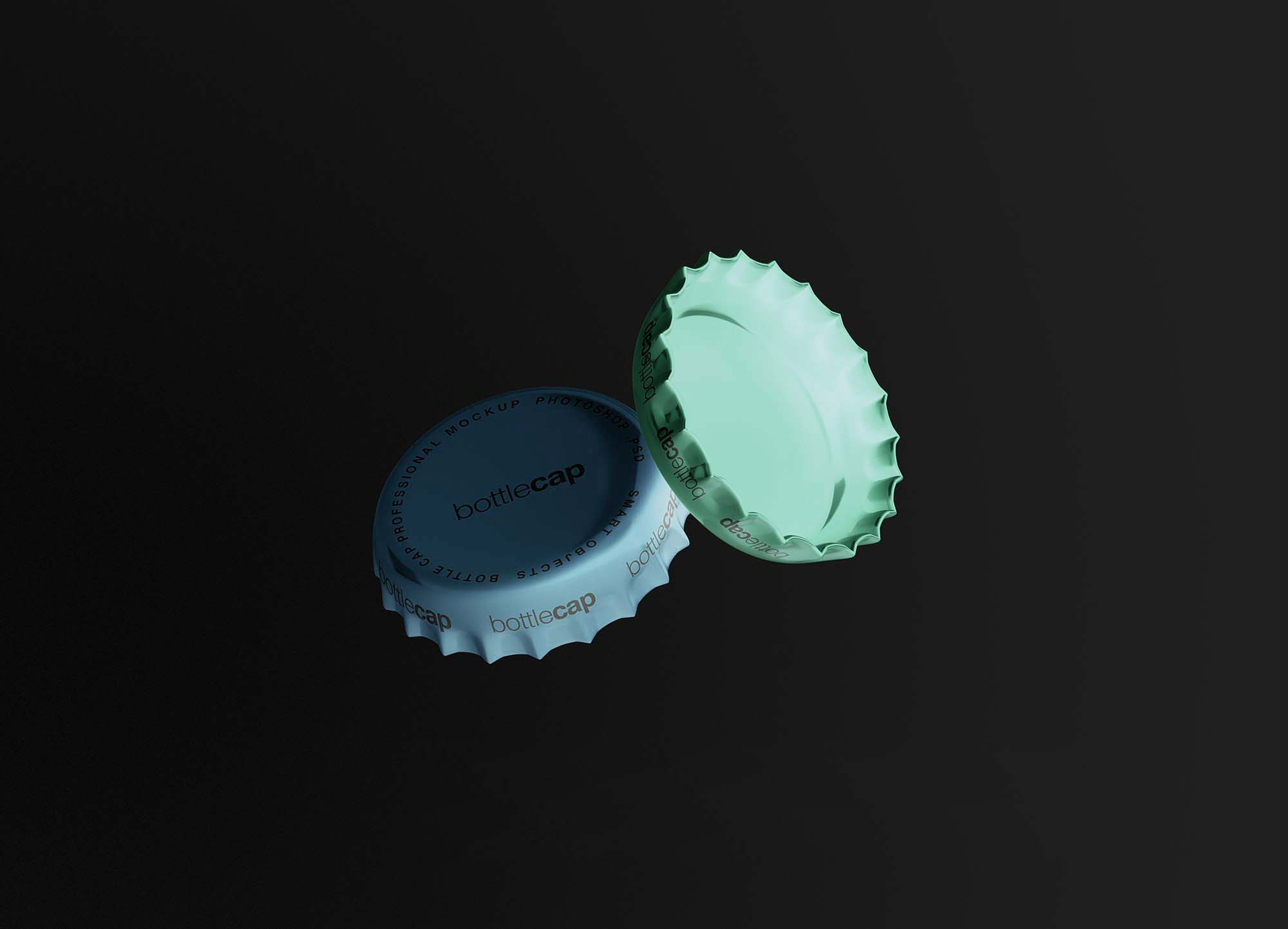 Bottle Caps Mockup