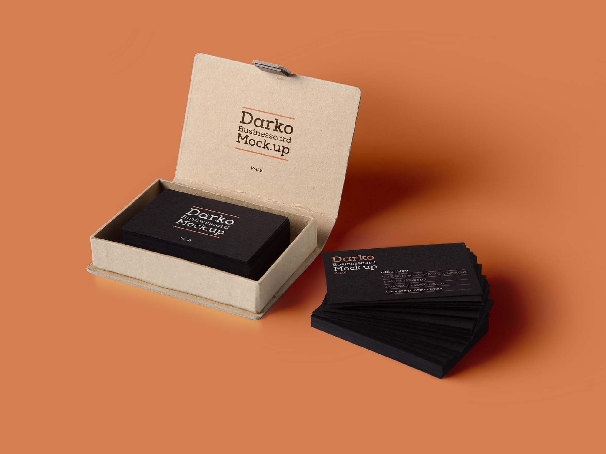 Business Card with Box Mockup