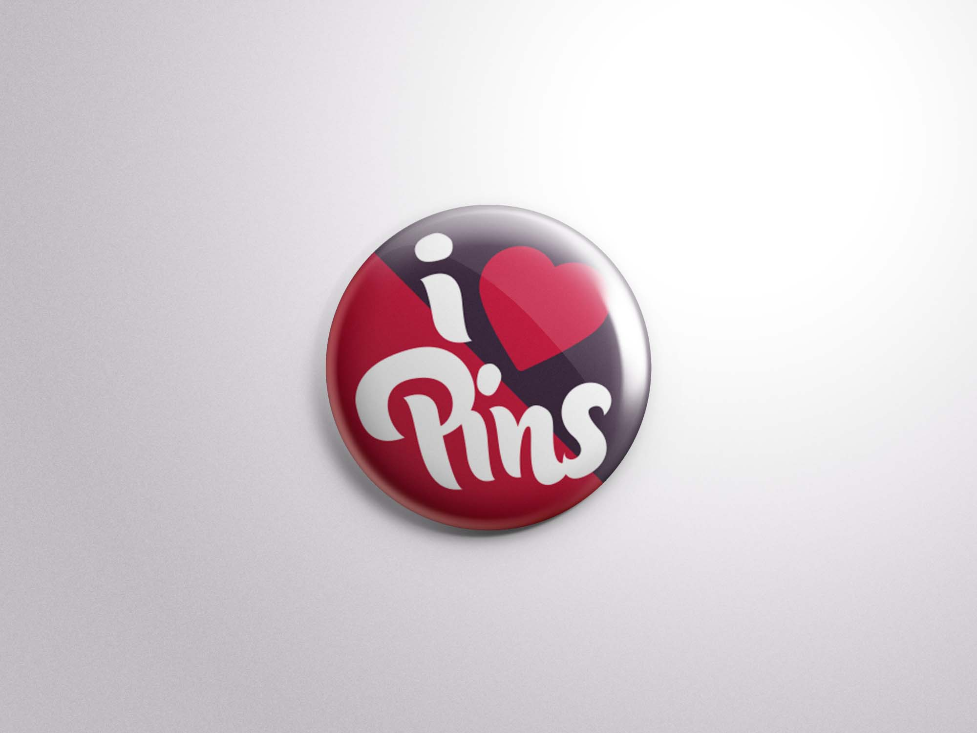 Button Badge Pin Mockup