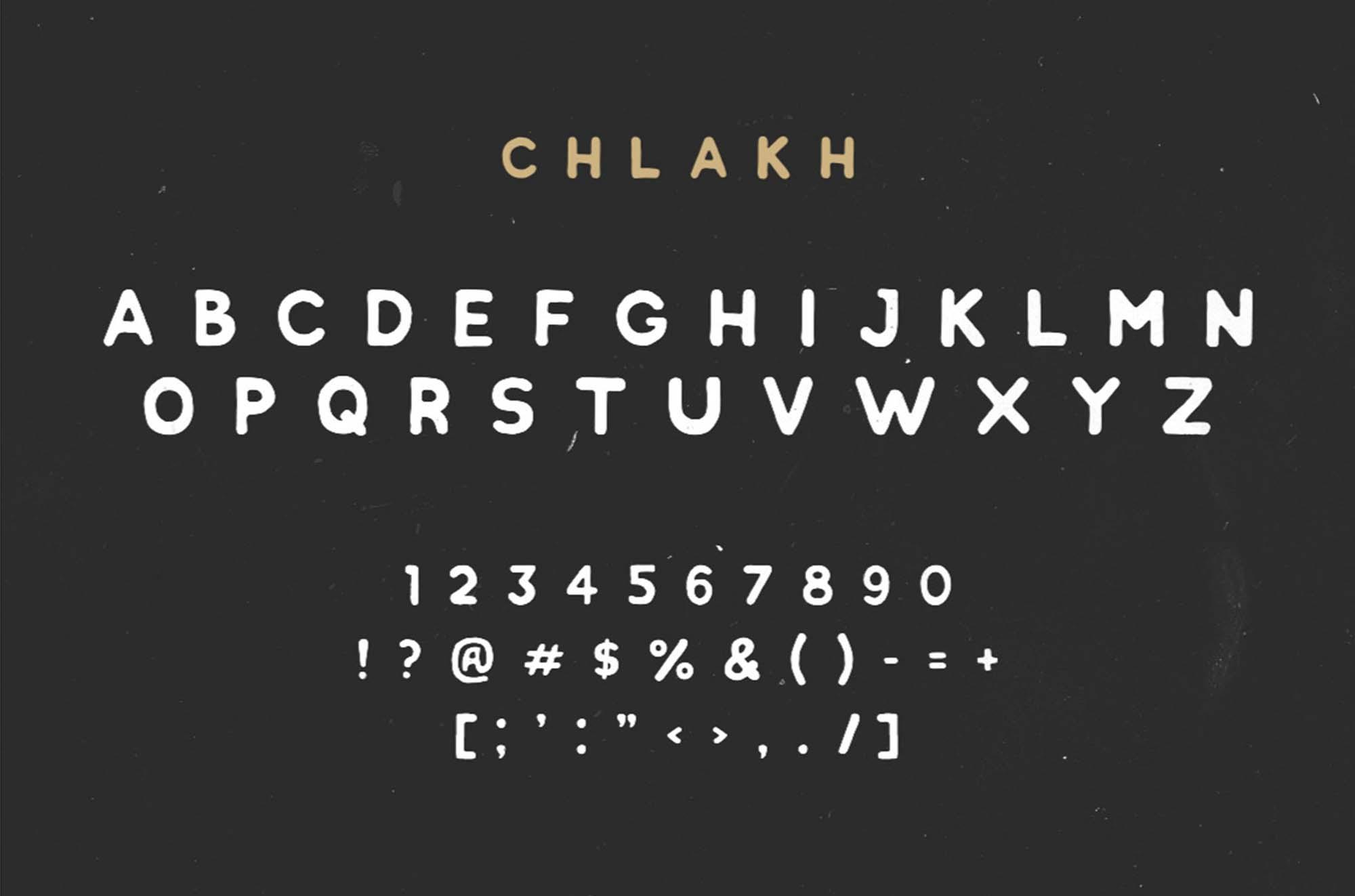 Chlakh Font Letters
