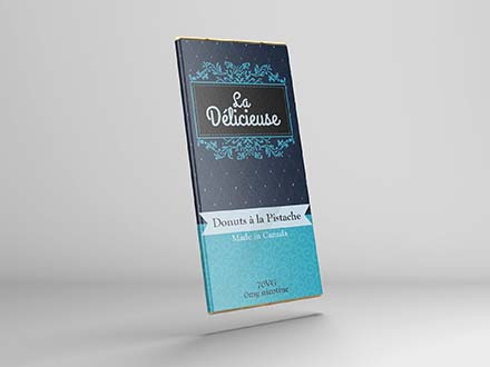 Chocolate Bar Label Mockup