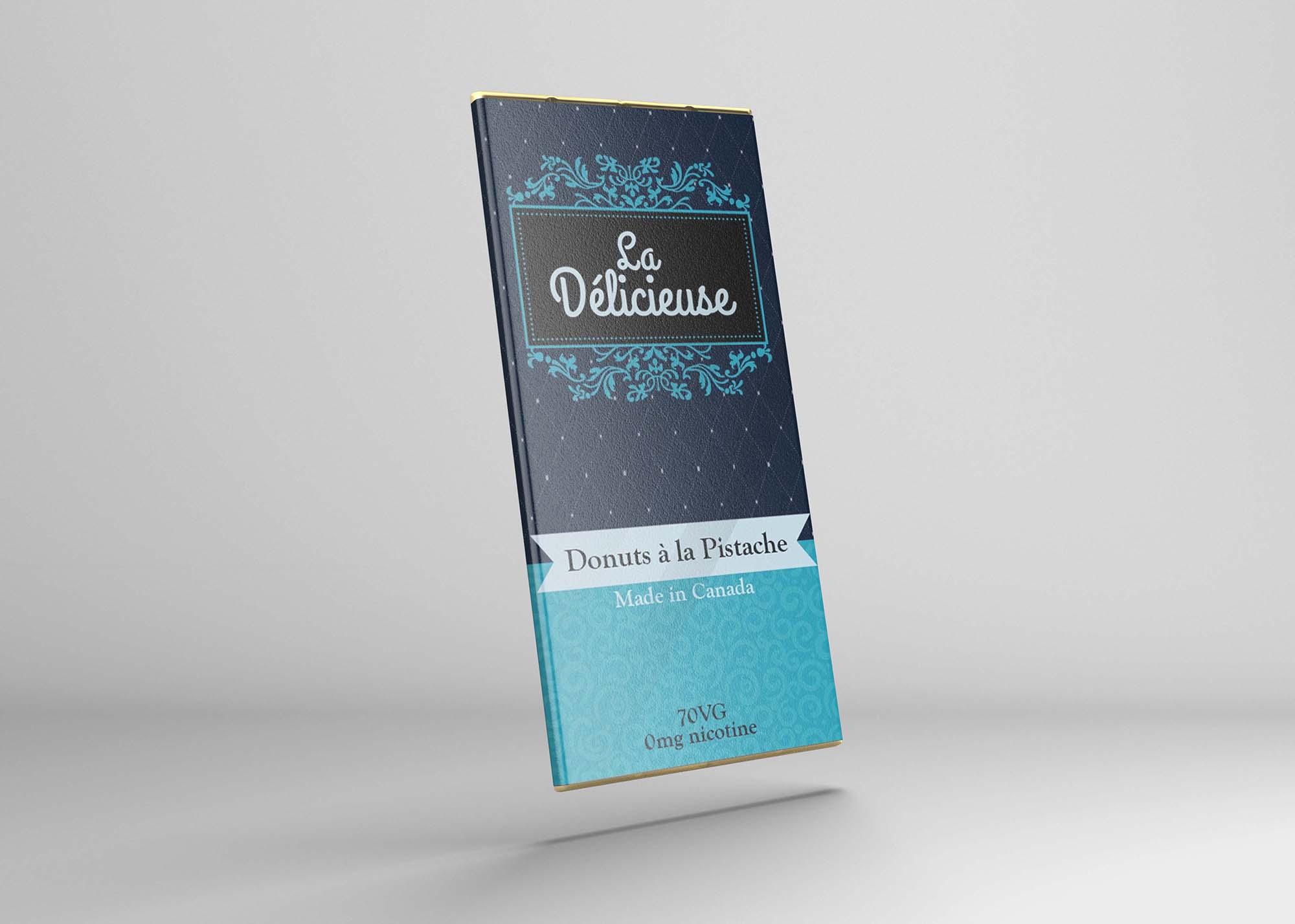 Chocolate Bar Label Mockup