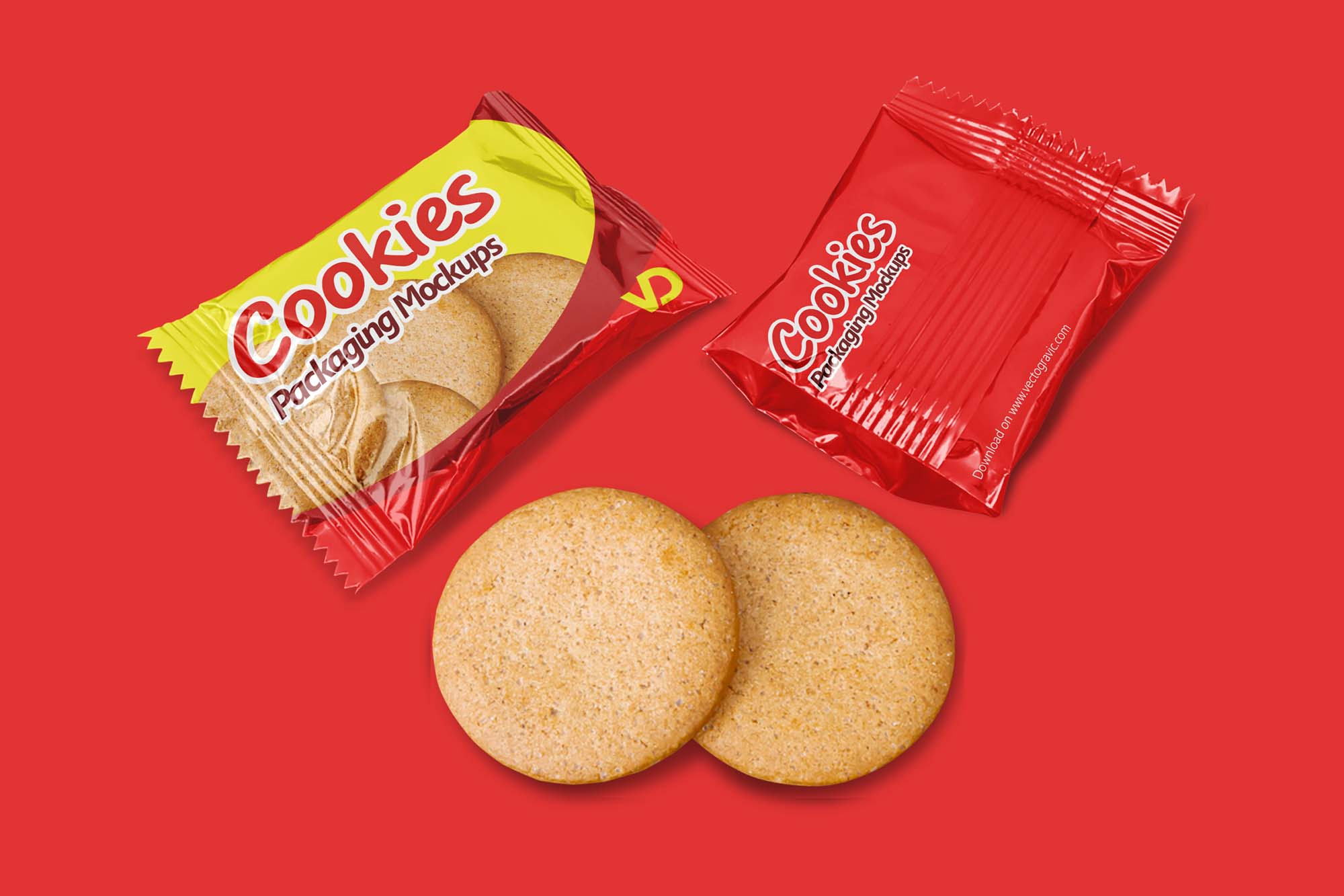 Cookies Packaging Mockup