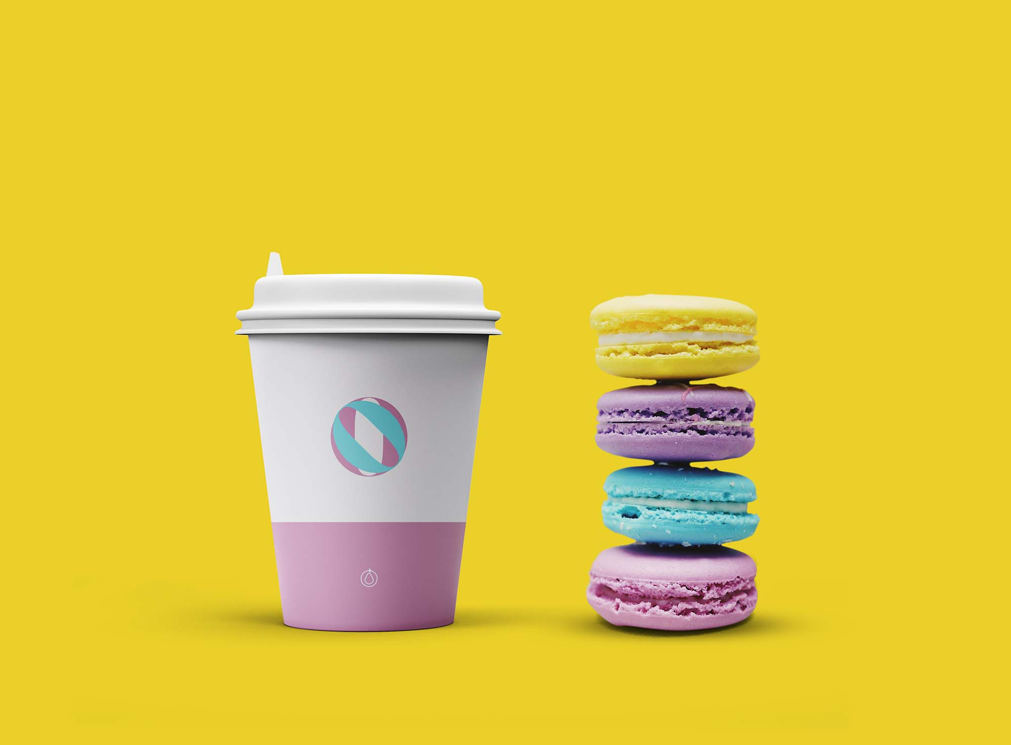 Cup with Cookies Mockup