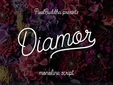 Diamor Font Letters