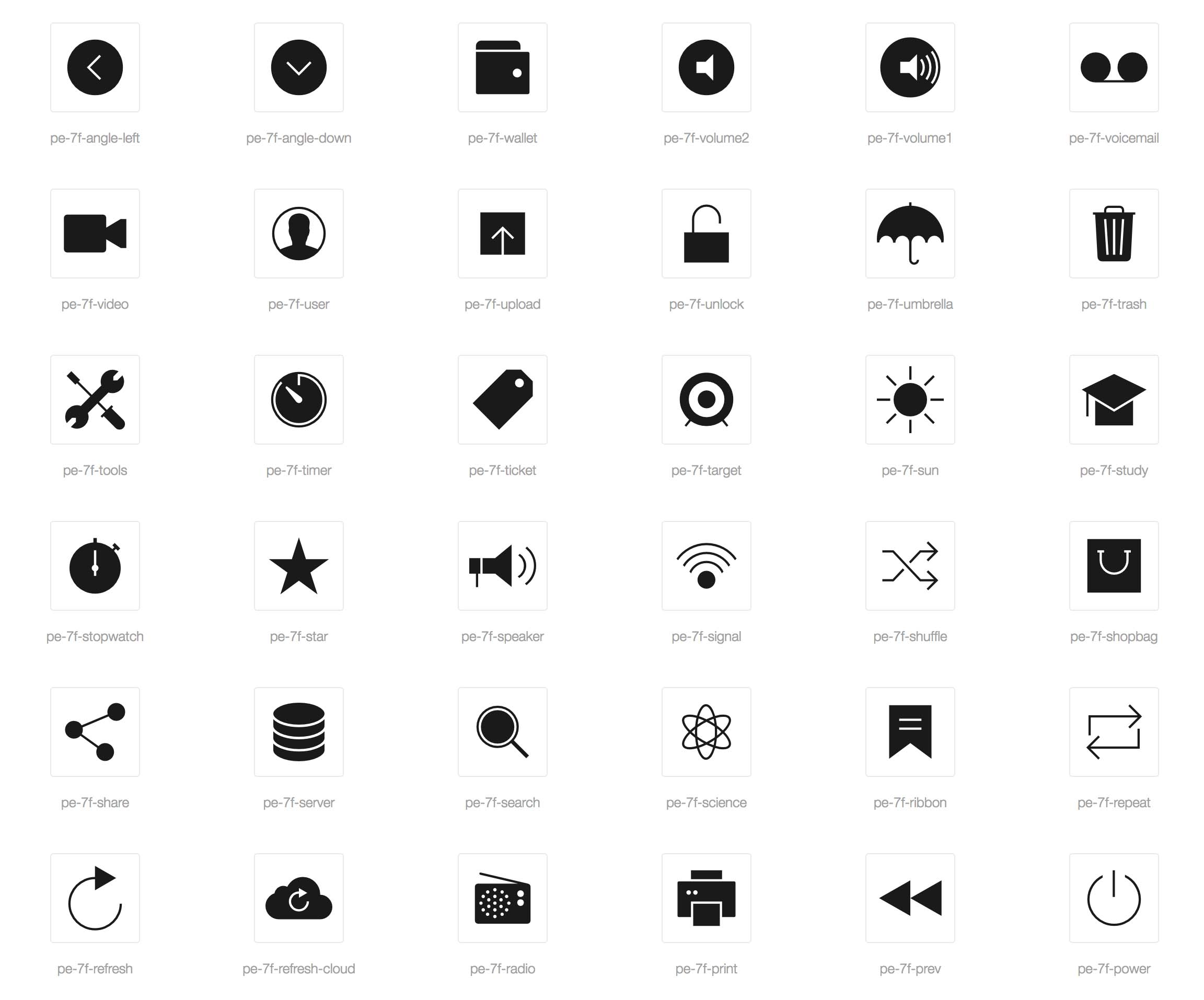 Filled Icons
