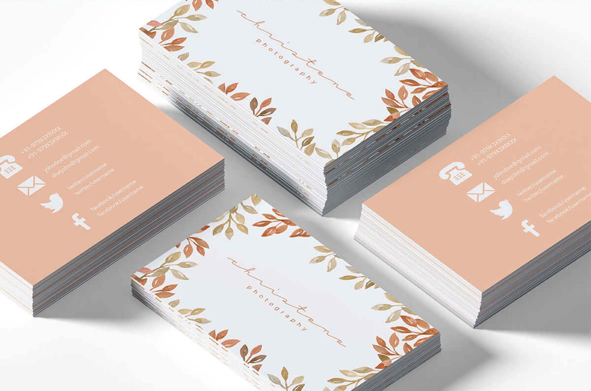Floral Photography Business Card Template