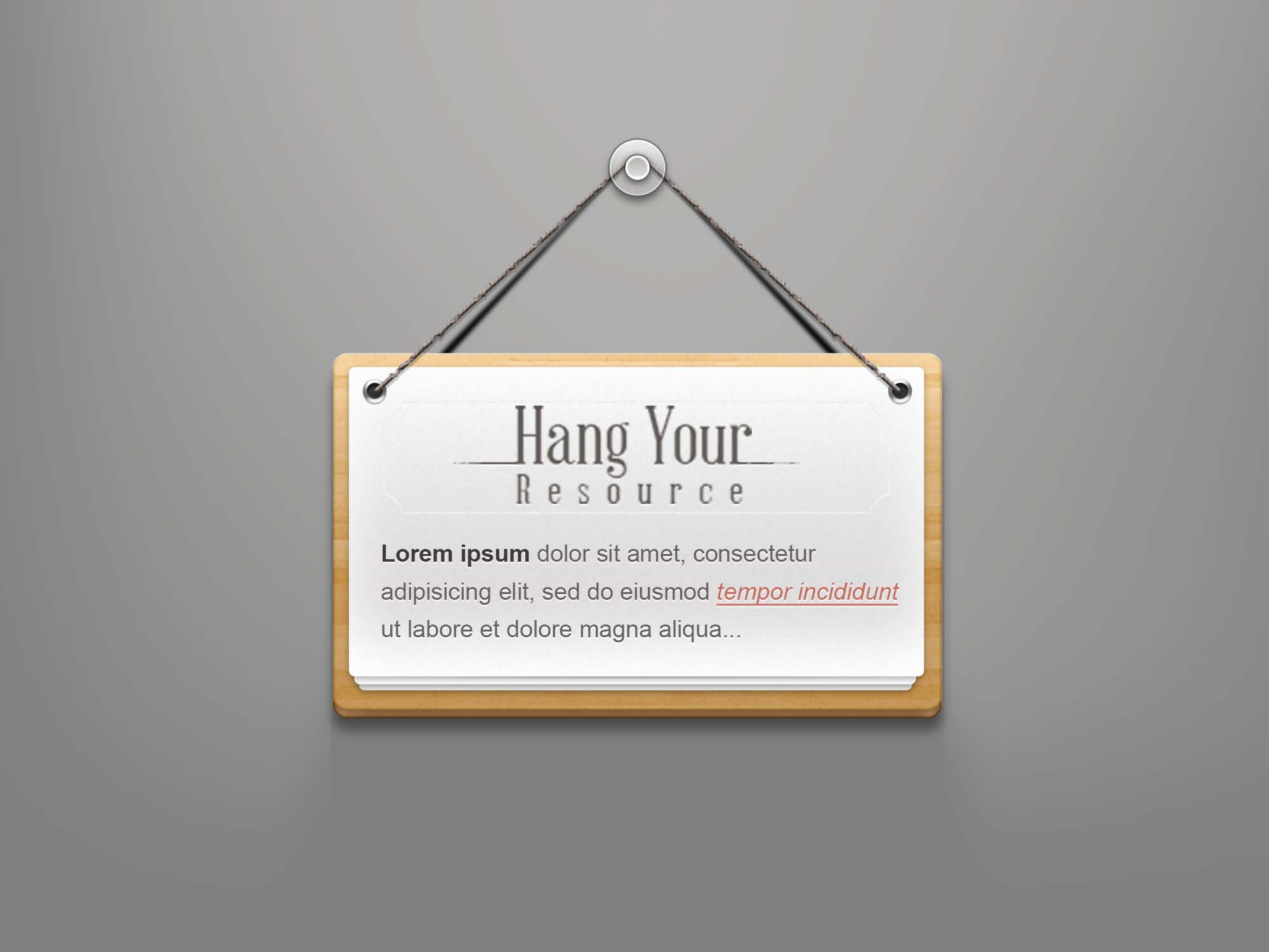 Hanging Note Sign