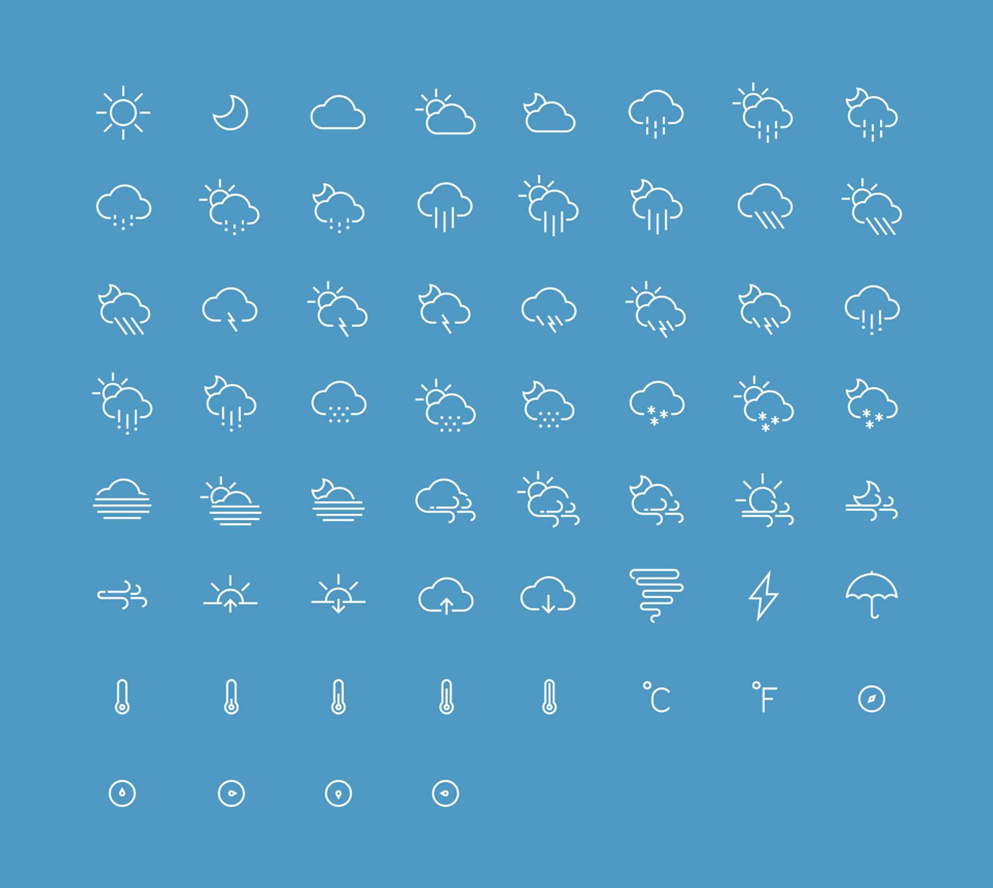 IOS Weather Icons