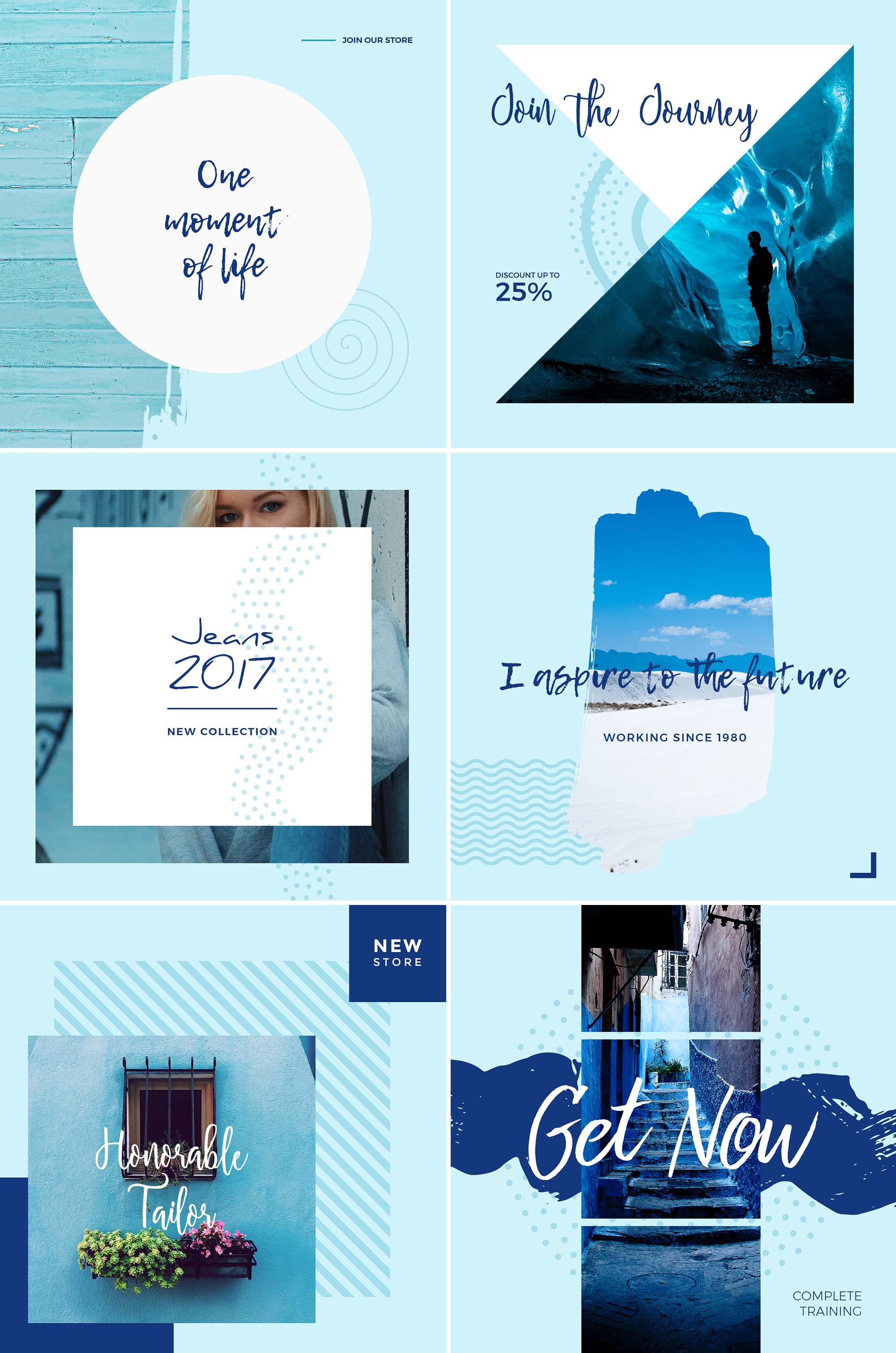 Blue Sky Free Social Media Templates Psd