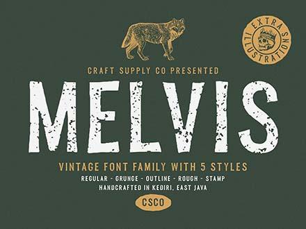 Melvis Font Family