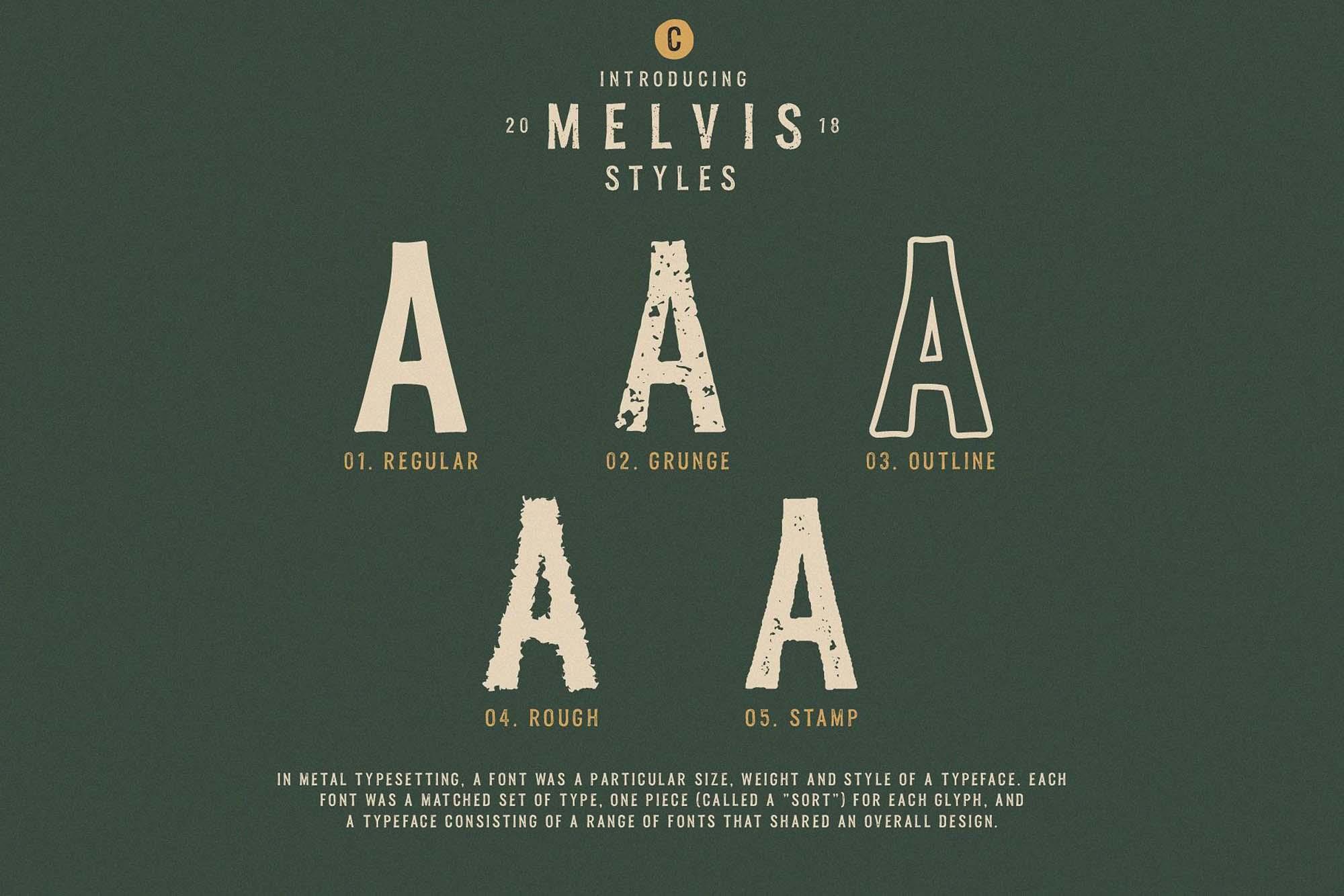 Melvis Font Family Styles