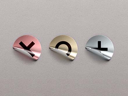 Mini Foil Sticker Badges