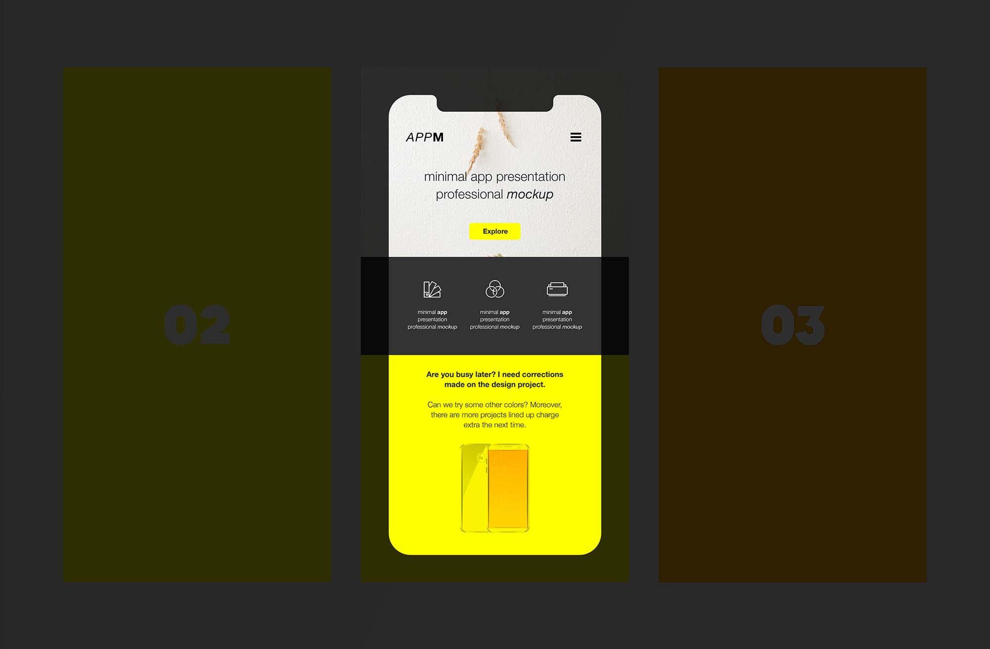 Minimal App Mockup