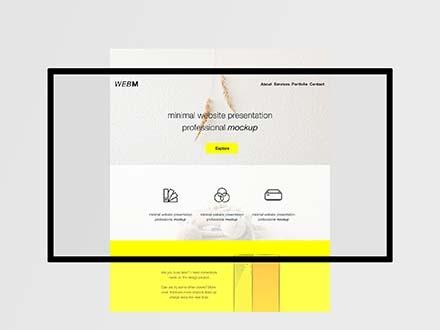 Minimal Website Mockup