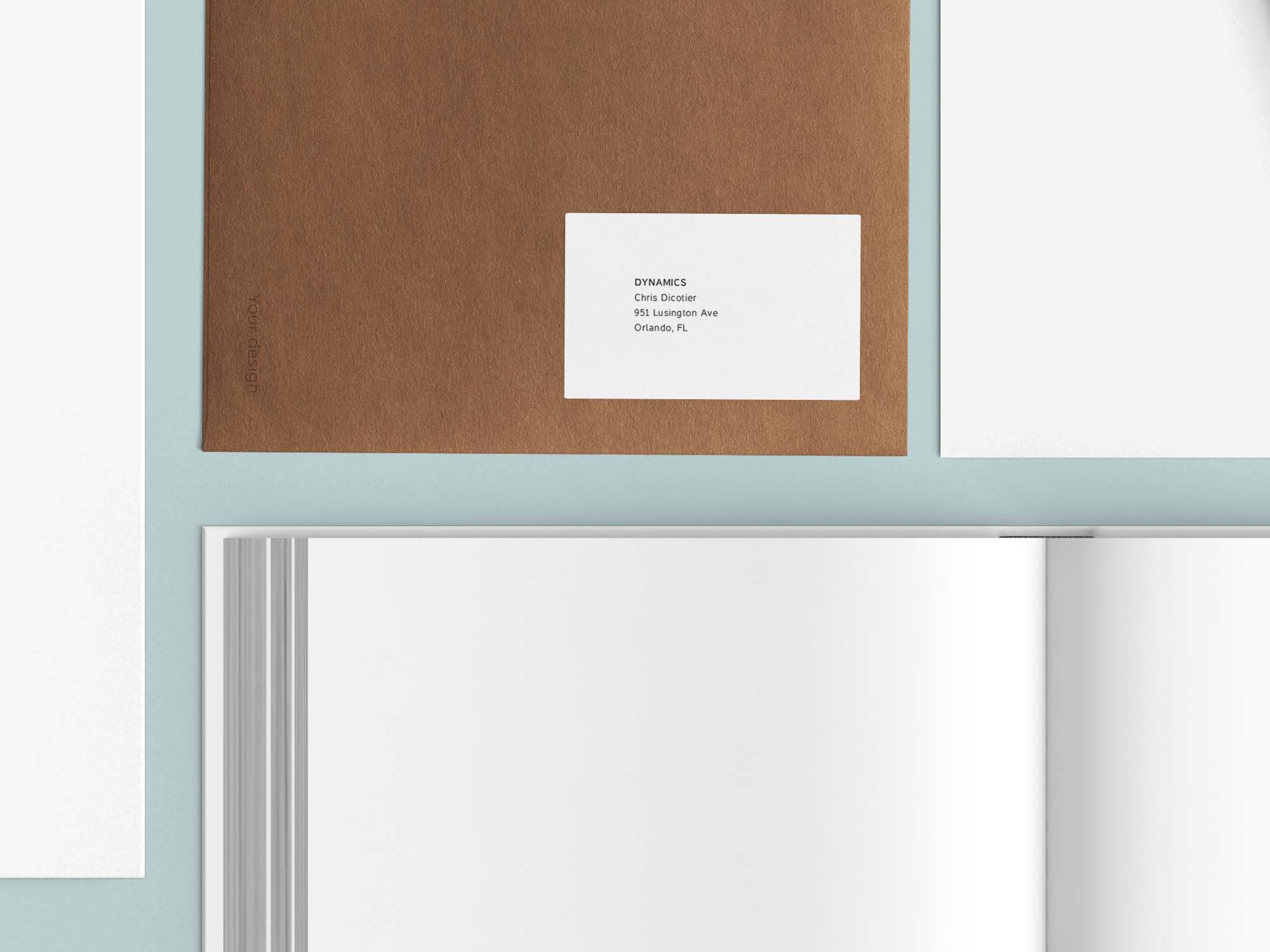 PowderBlue Stationary Mockup