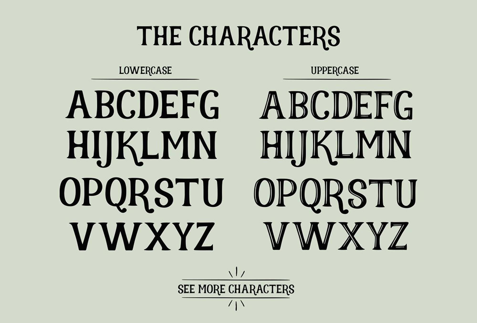 Realist Typeface Letters