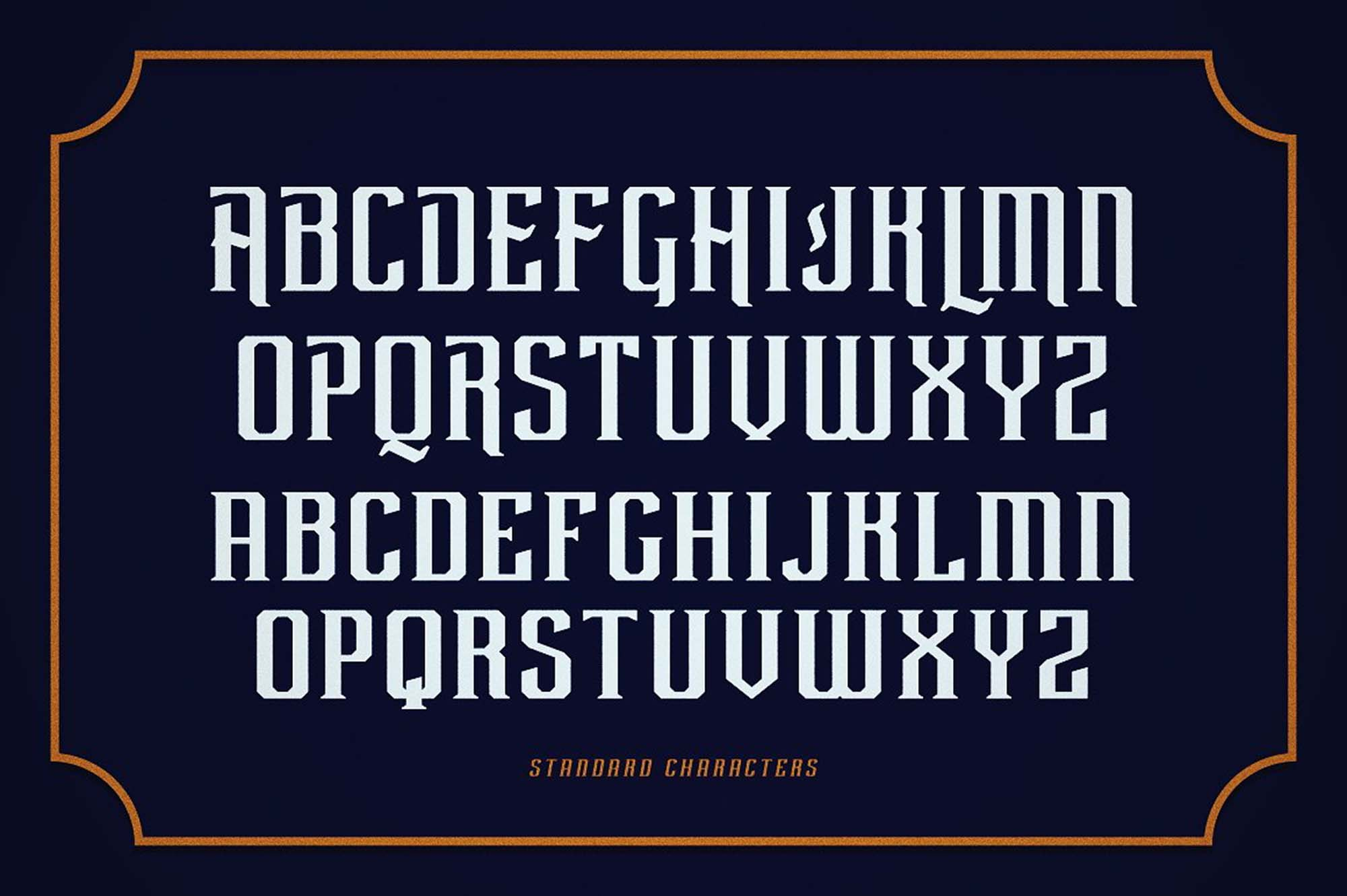 Rebute Typeface Letters