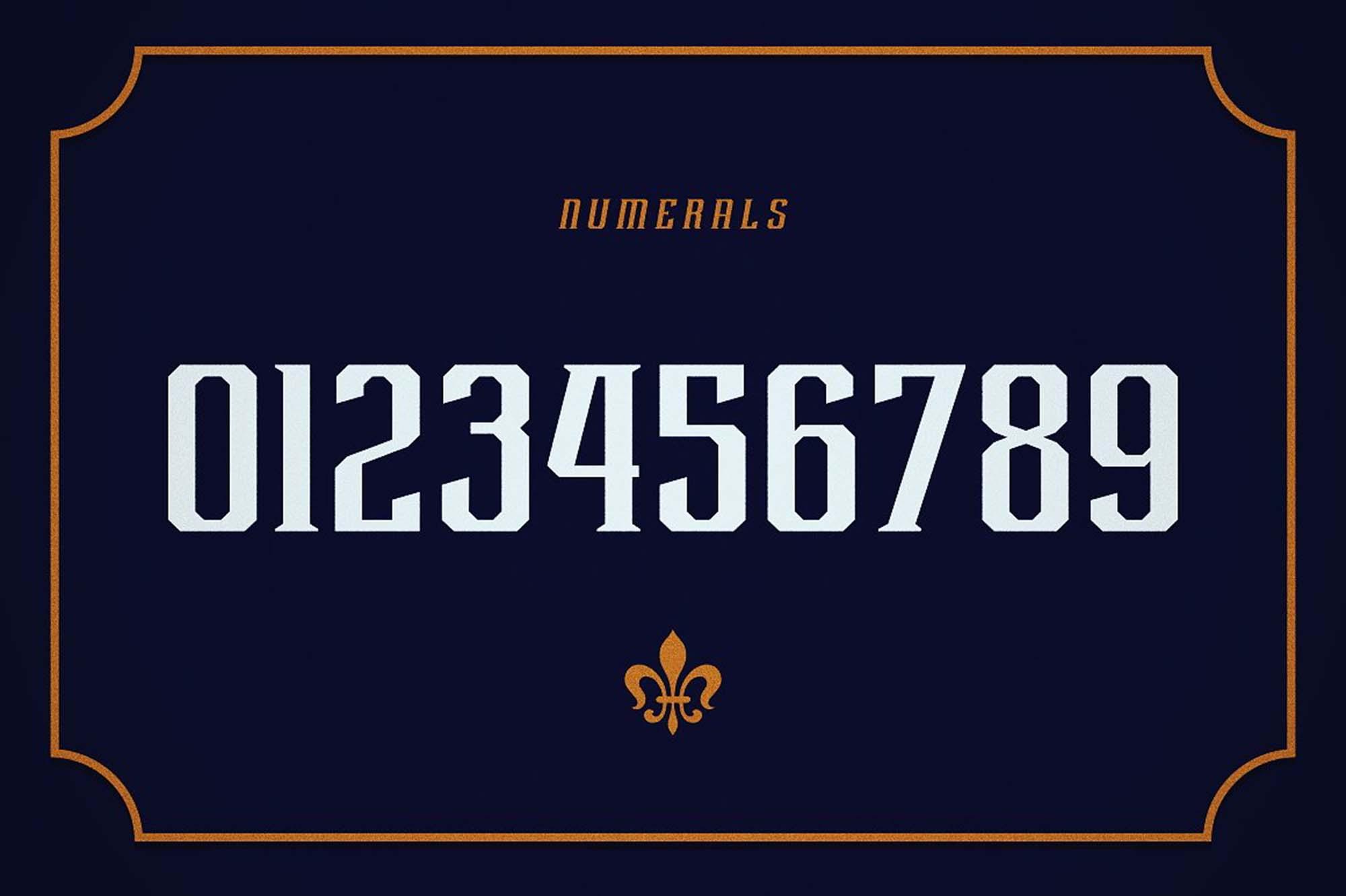 Rebute Typeface Numerals