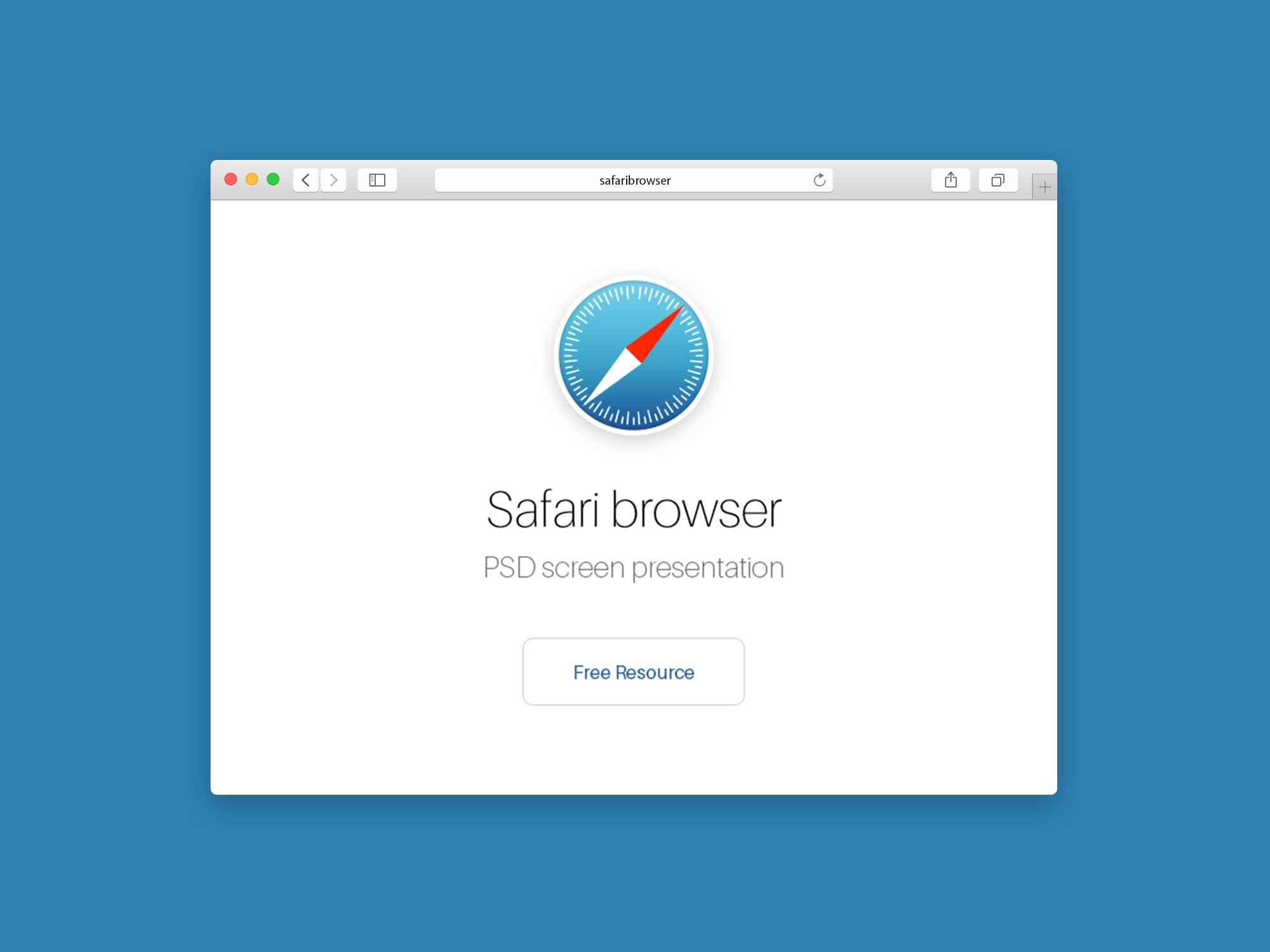 Safari Browser Mockup