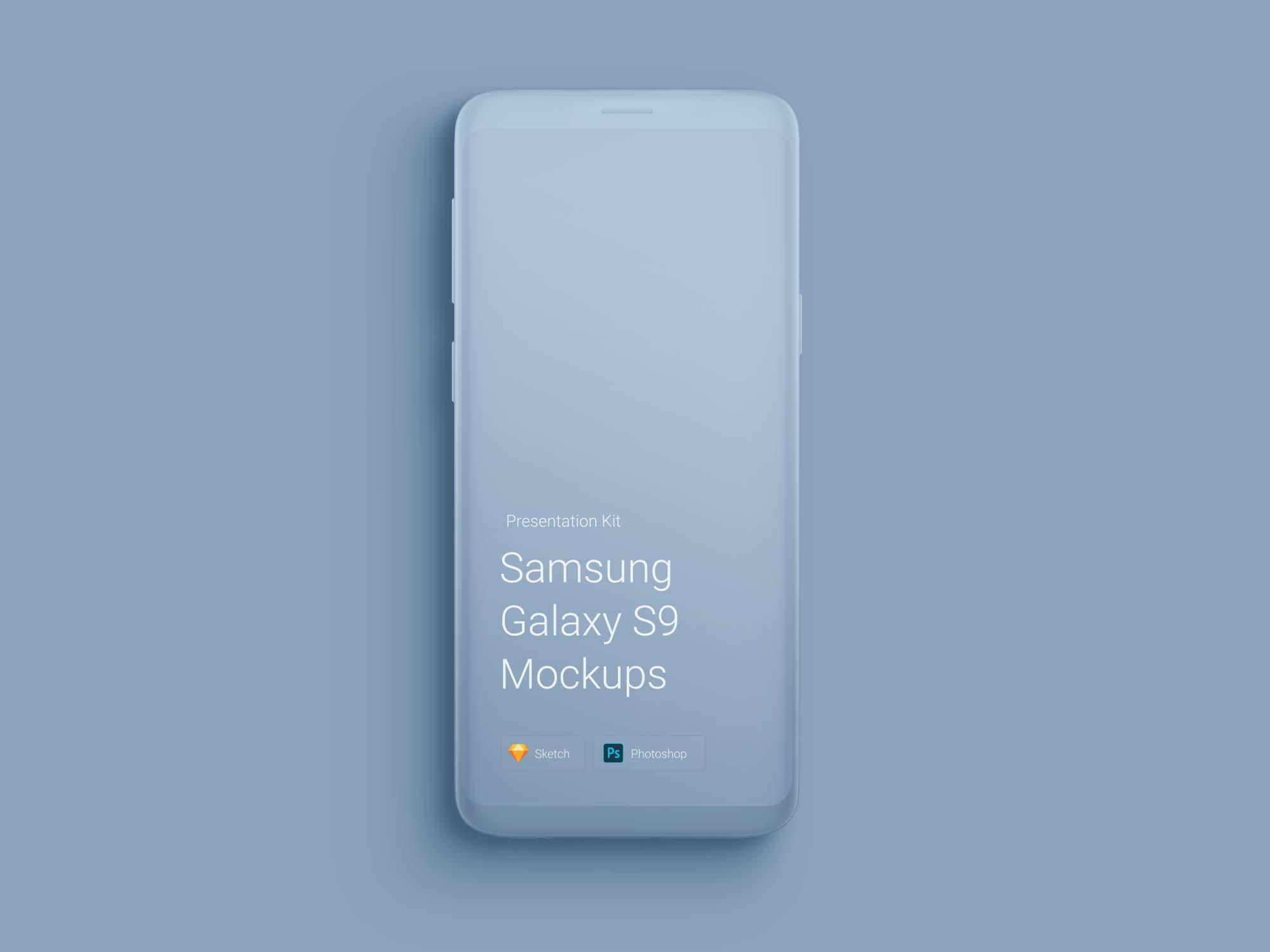 Clay Samsung Galaxy S9 Mockup