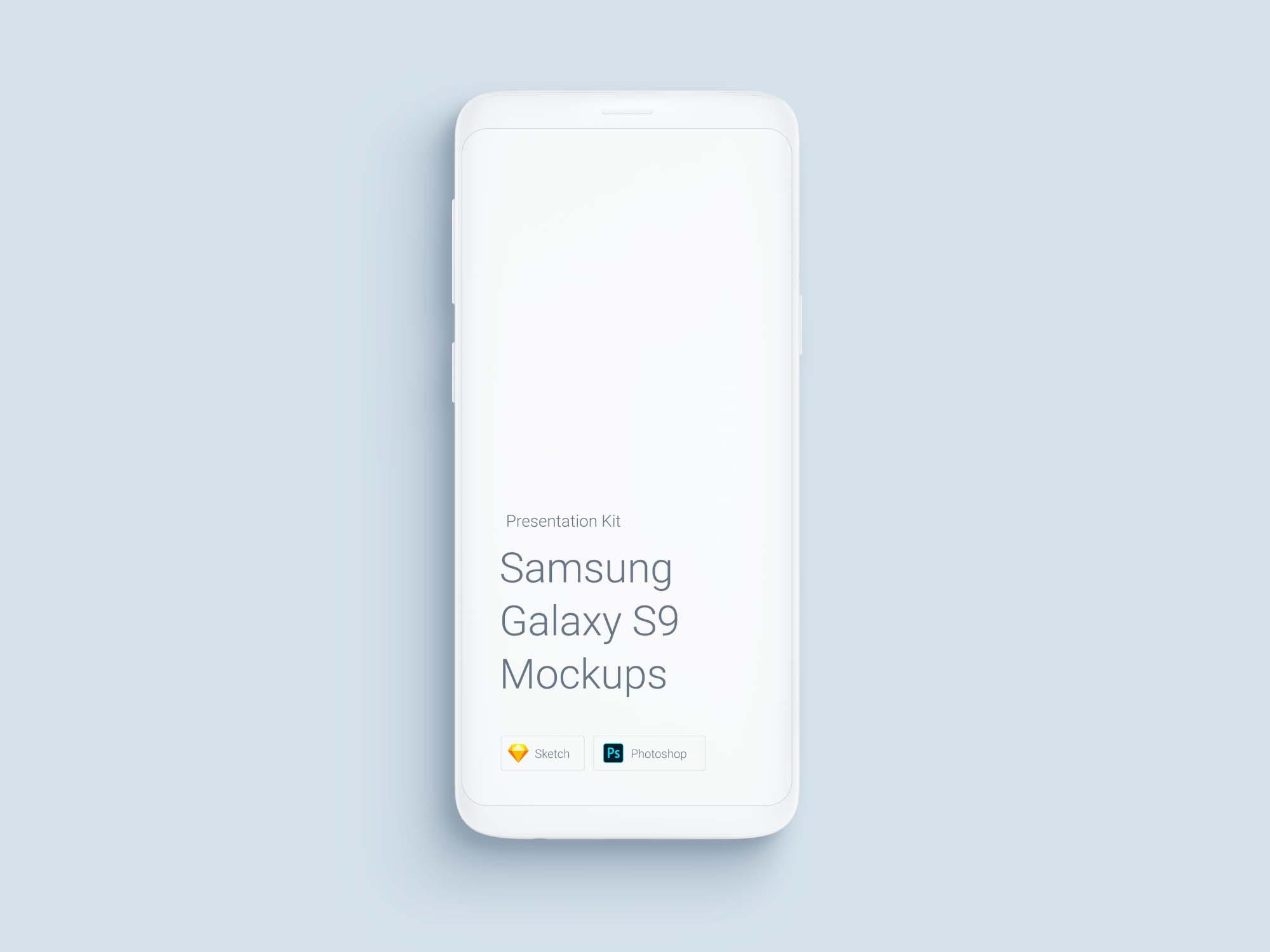 White Samsung Galaxy S9 Mockup