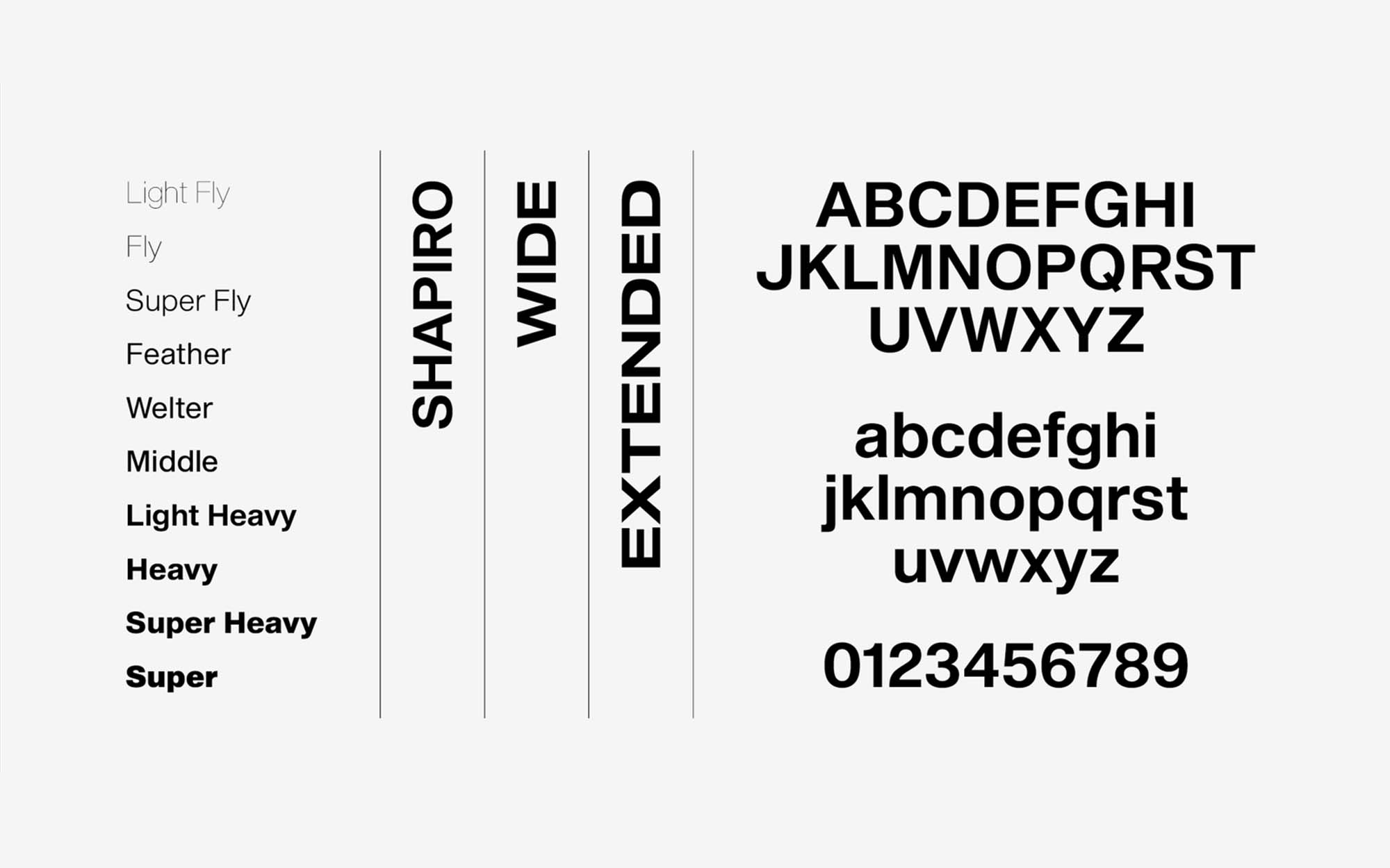 Shapiro Font Letters