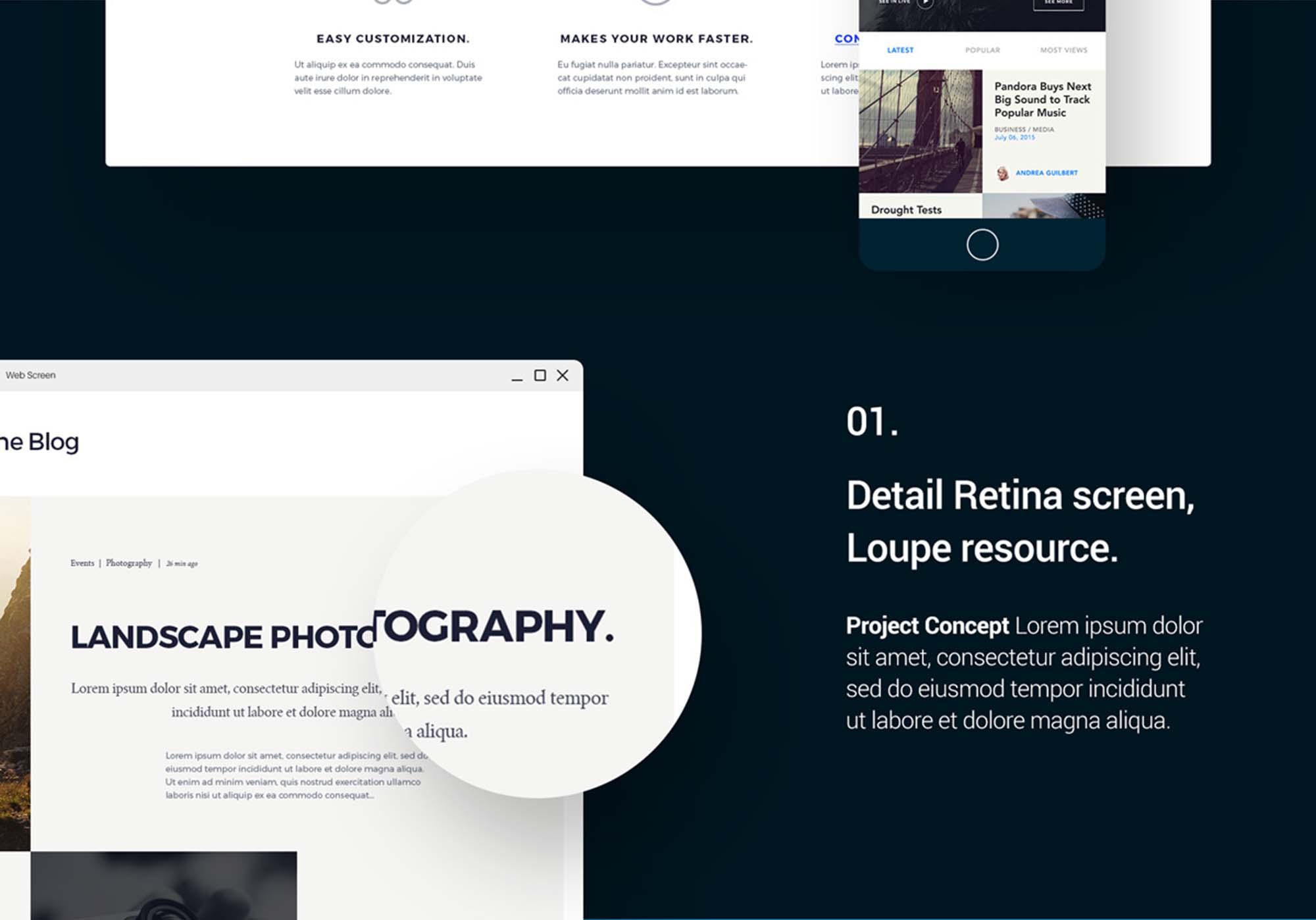Showcase UI Design Template