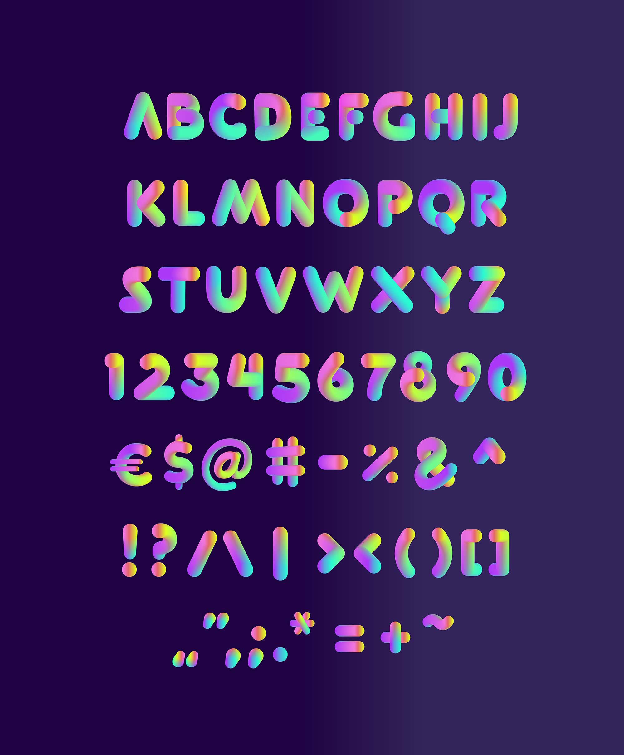 Softa Typeface Letters