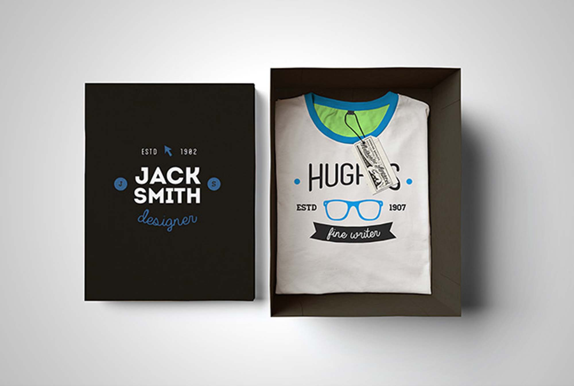 T-Shirt in Box Mockup