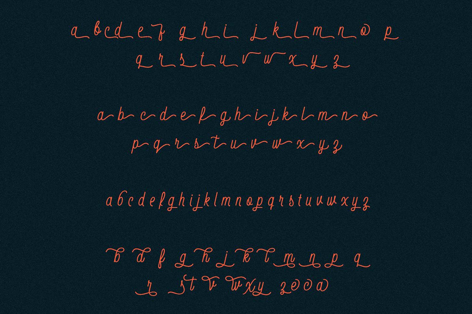 Thirdlone Font Letters