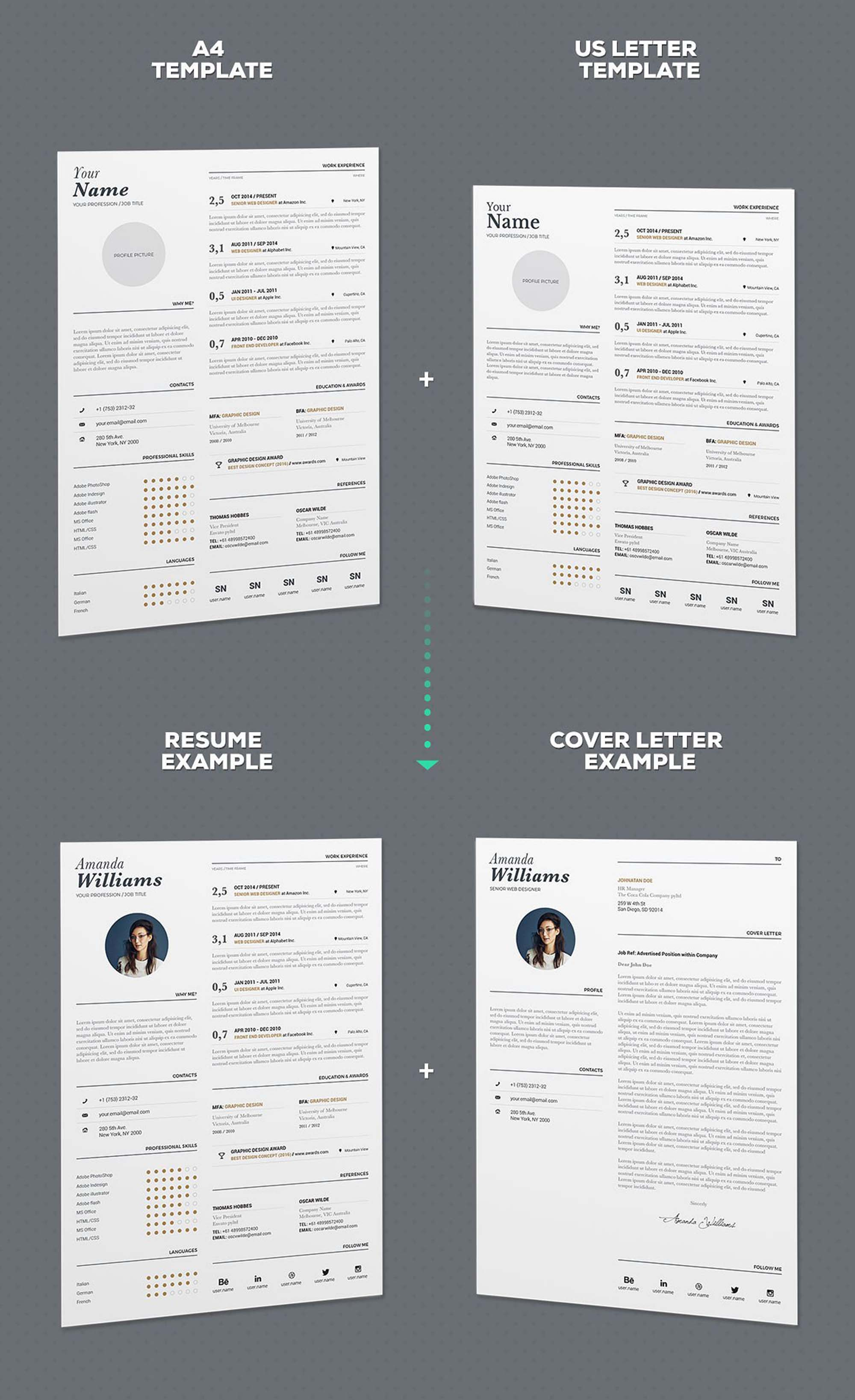 Typographic Resume Template