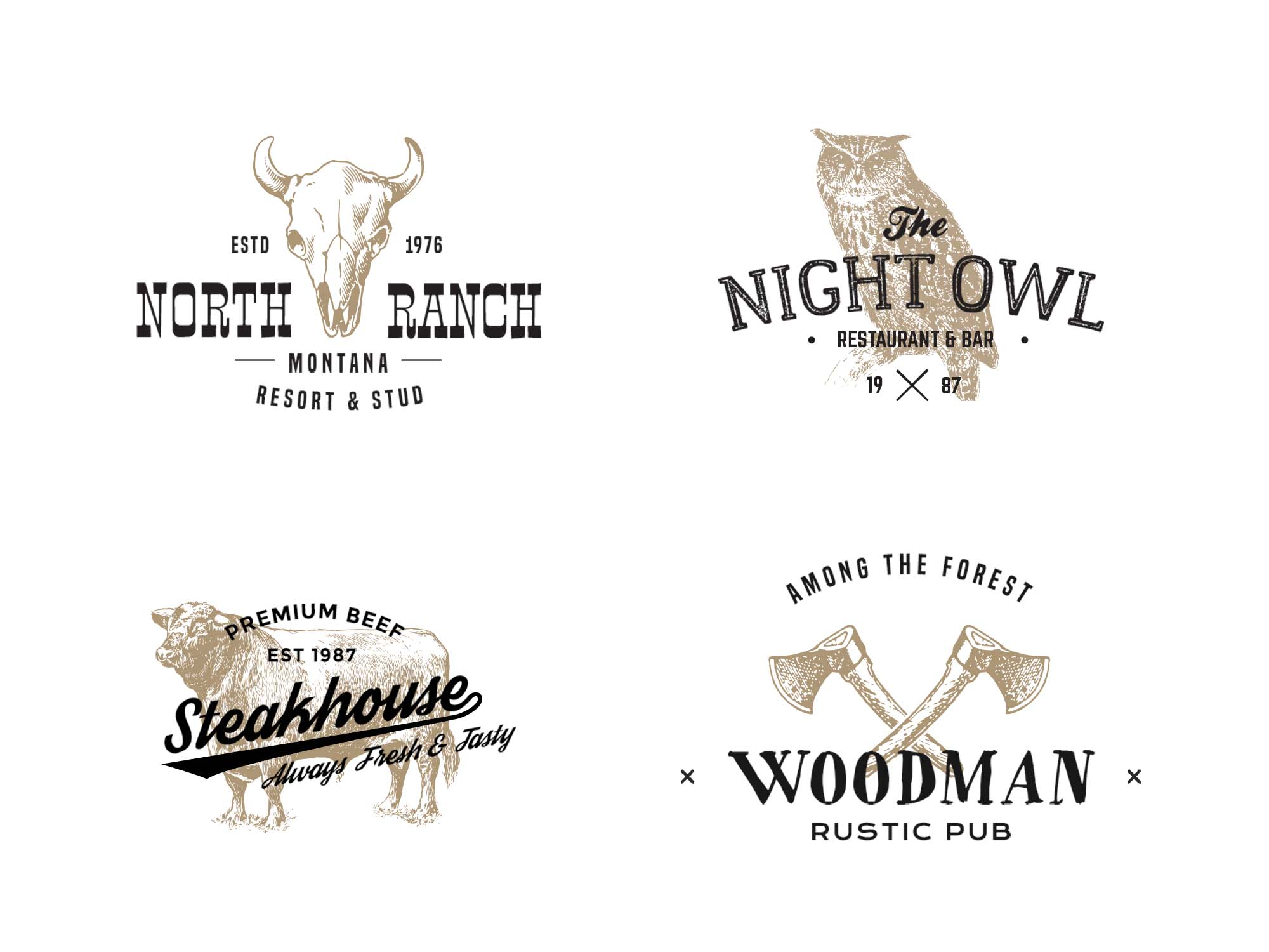 Vintage Logo Badge Templates