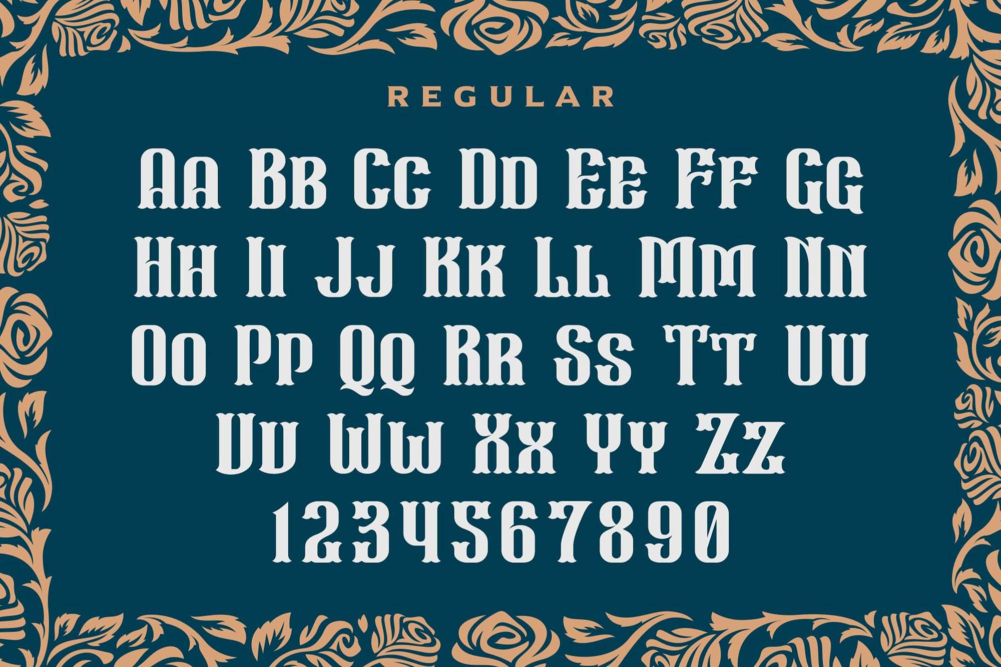 Wall Axe Font Letters