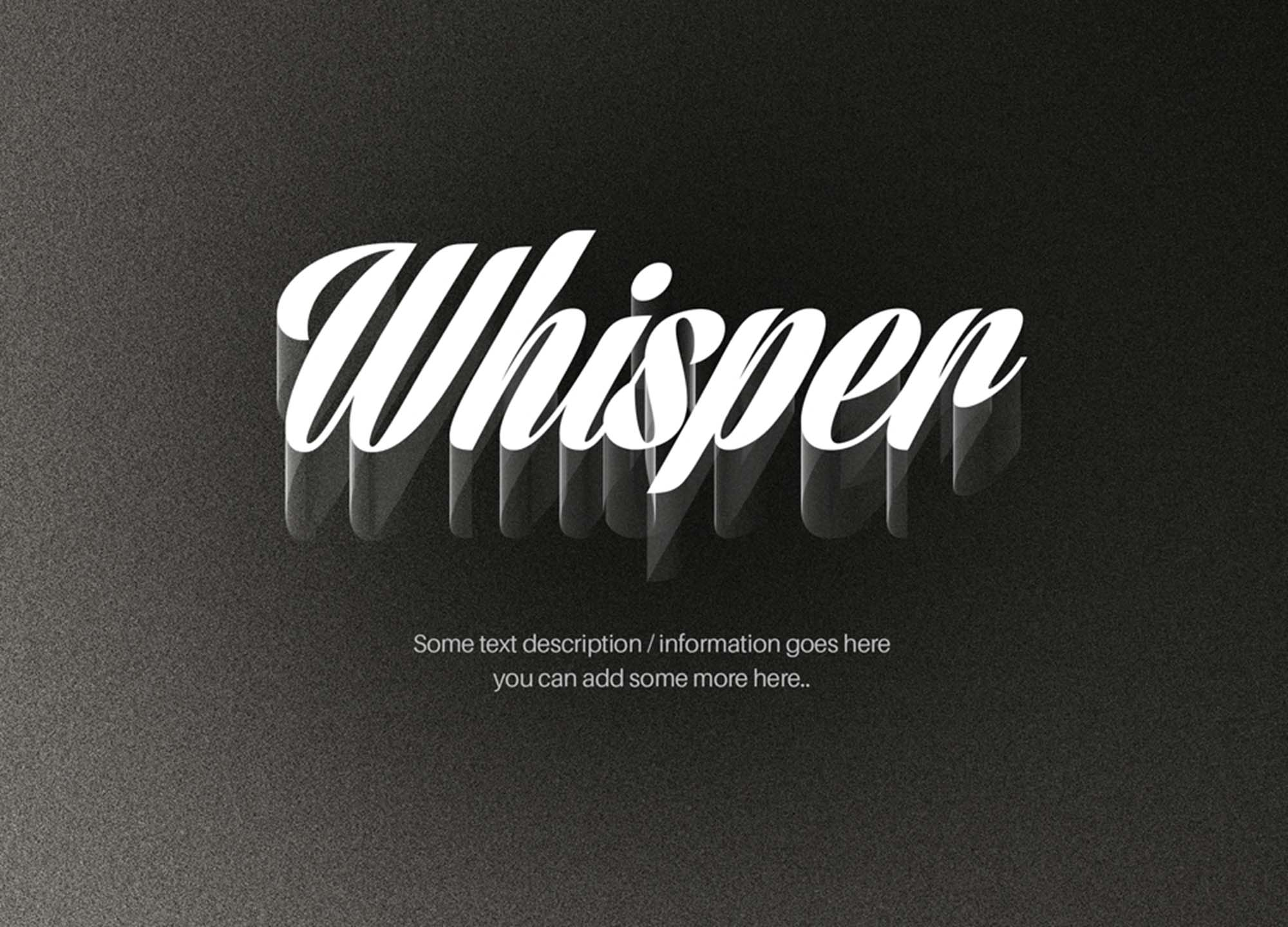 Wire Shadow Text Effect