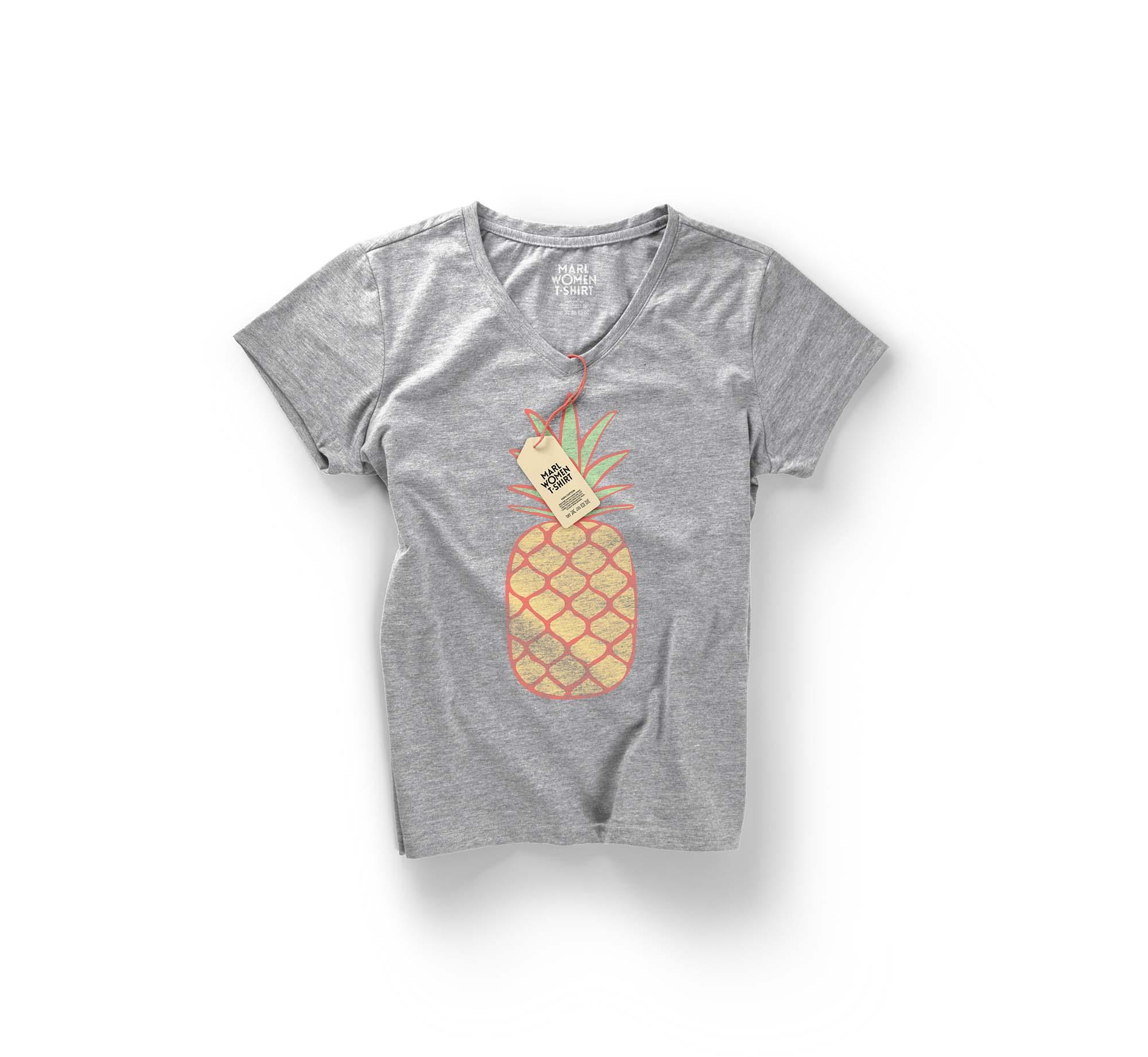 Woman Marl T-shirt Mockup