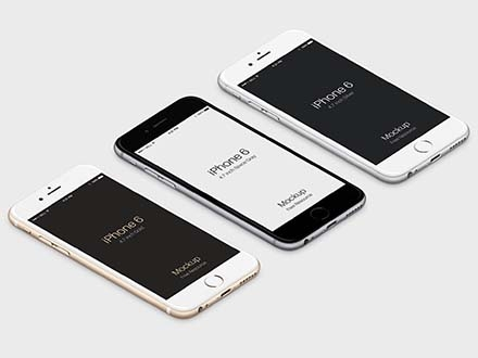 iPhone 6 Isometric Mockup