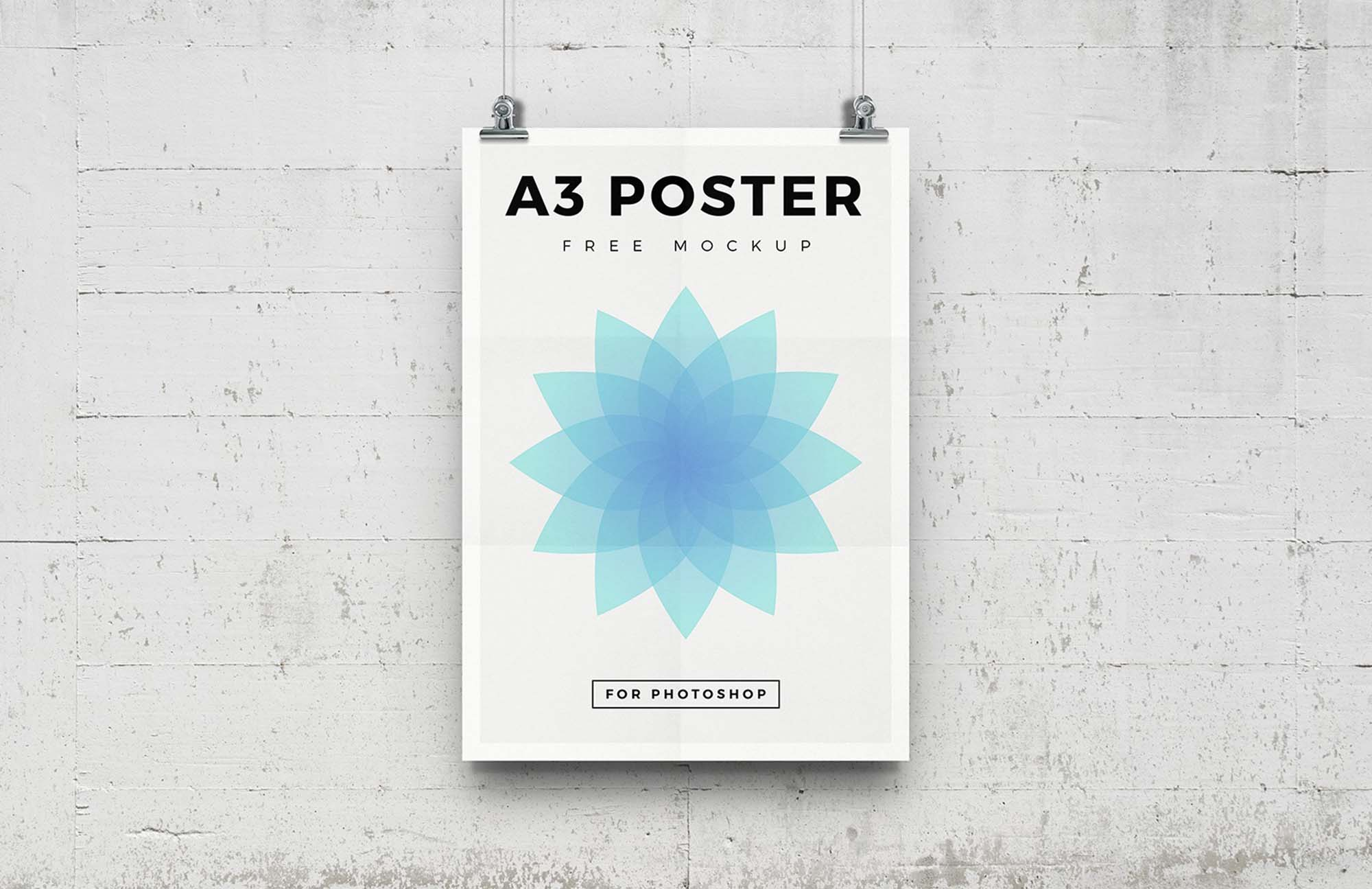 Free A3 Poster Mockup (PSD)