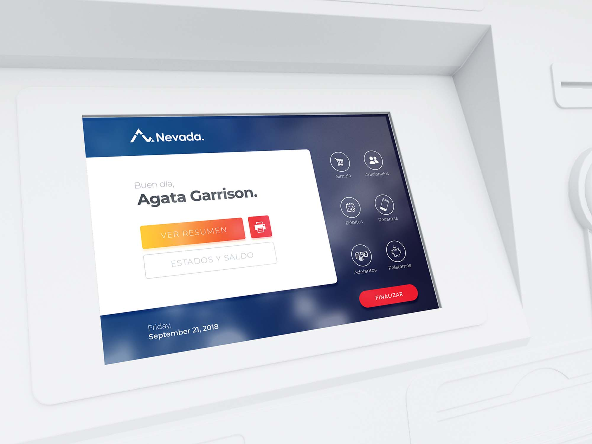 ATM Screen Ui Mockup
