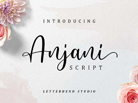 Anjani Script Font