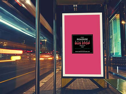 Bus Stop Advertising Mockup