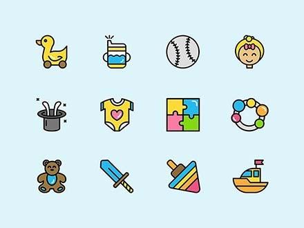 Childhood Flat Icons