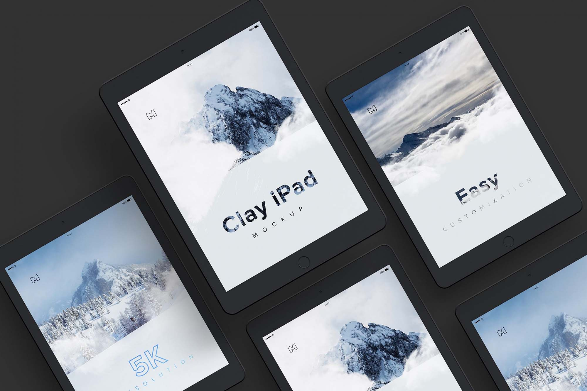Clay iPad Tablet Mockup