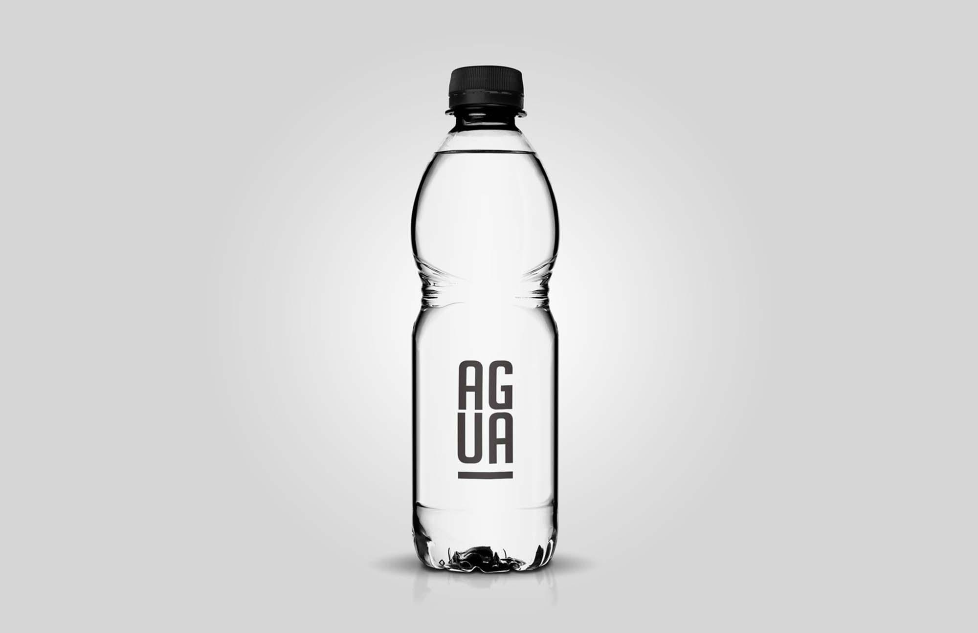 Clear Plastic Bottle Mockup 1