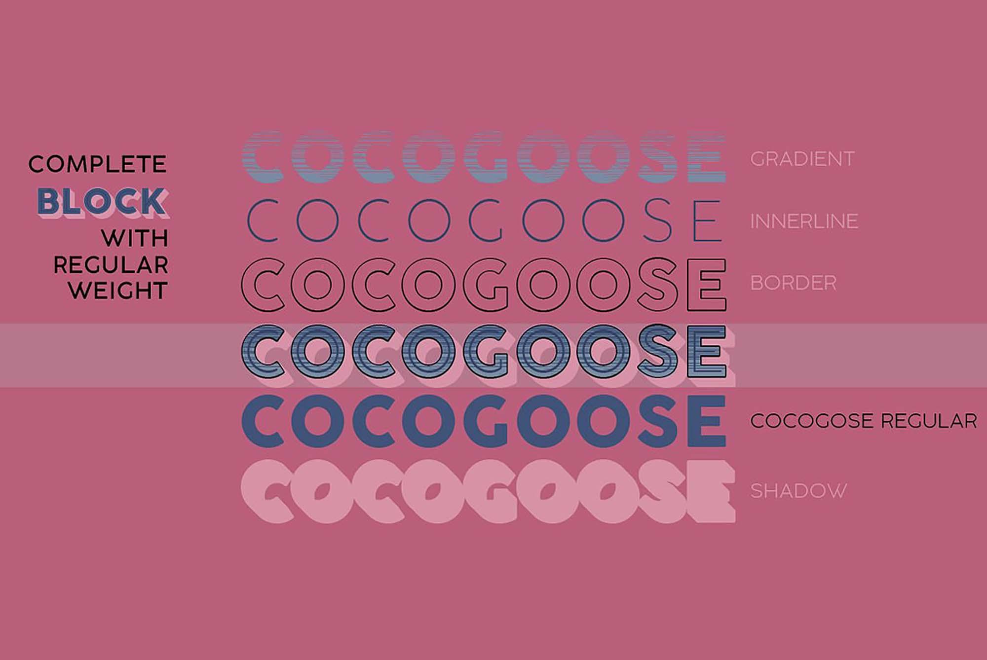 Cocogoose font